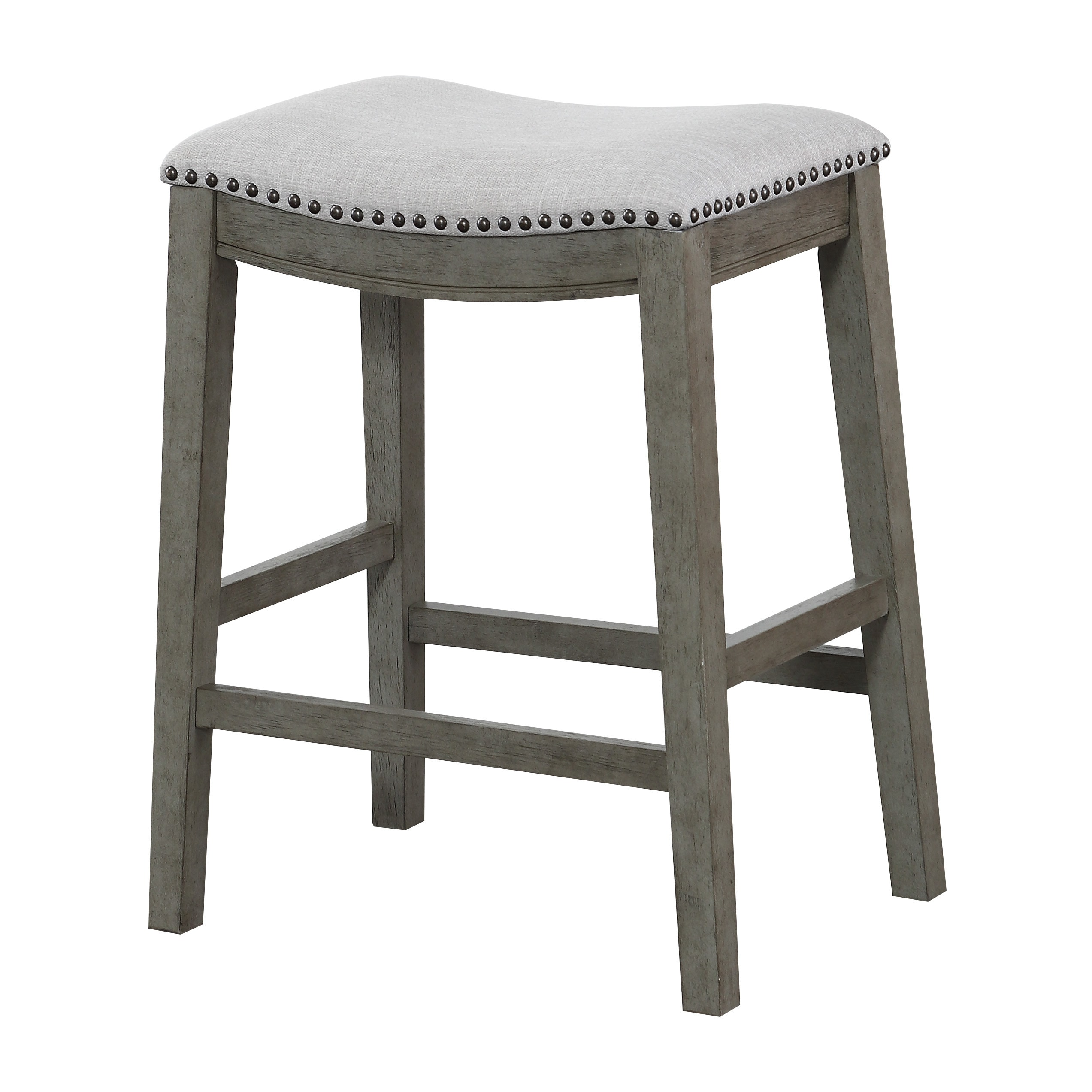 Shop The Gray Barn Arbakka Grey 24 Inch Saddle Bar Stools Set Of 2