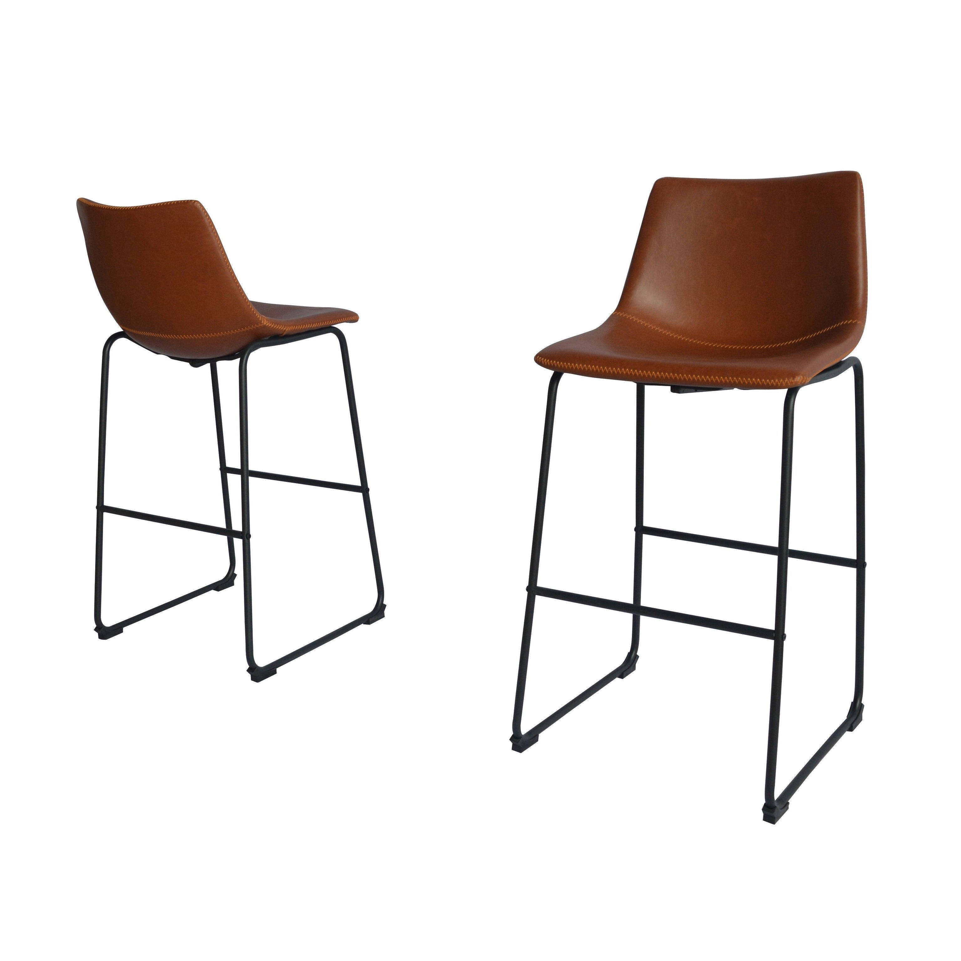 Shop Best Quality Furniture Modern 29 Inch Faux Leather Bar Stool (Set Of  2)   Free Shipping Today   Overstock.com   17716850