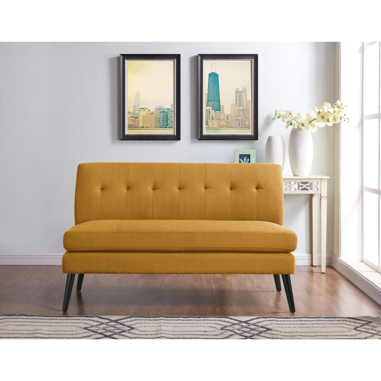 Brand-new Handy Living Kingston Mid Century Modern Mustard Yellow Linen  EL76