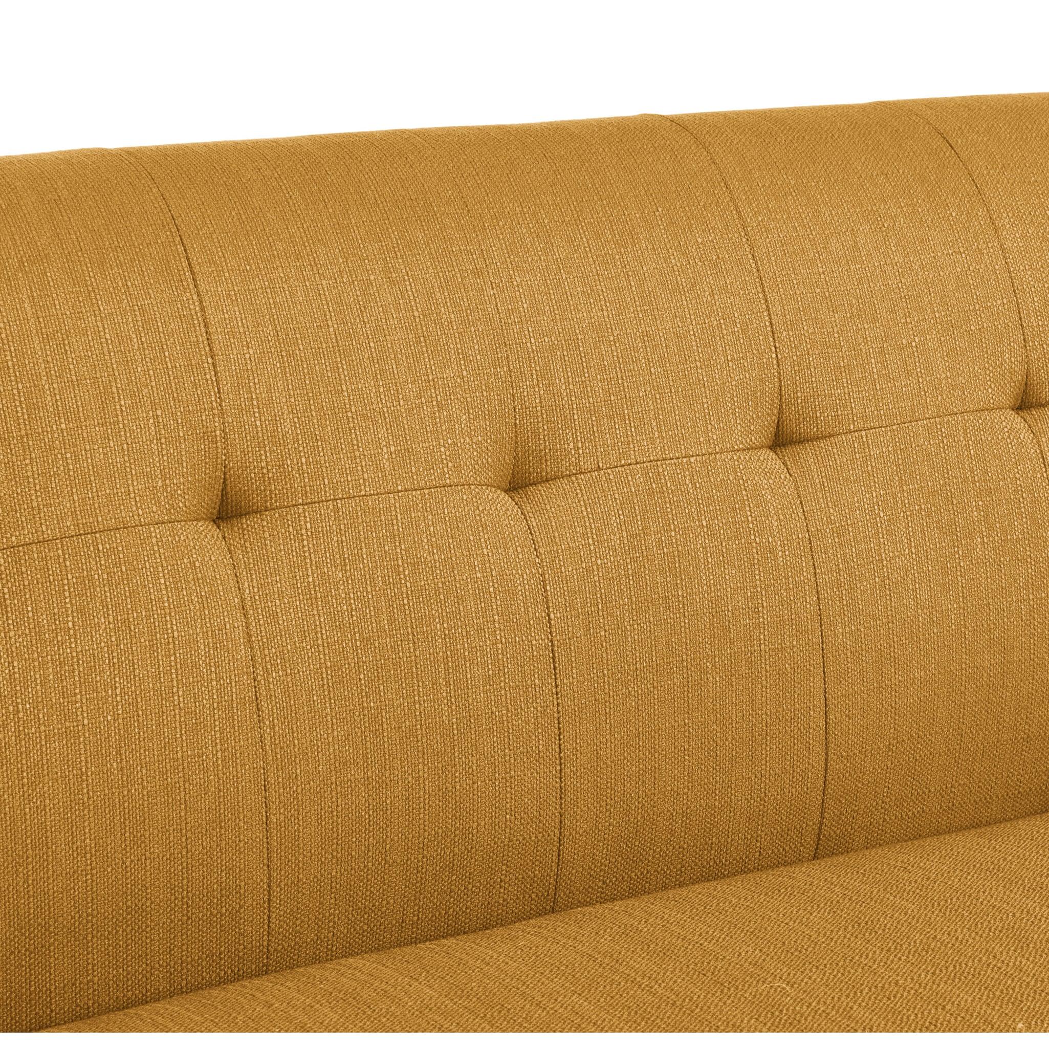 New Handy Living Kingston Mid Century Modern Mustard Yellow Linen  XY35