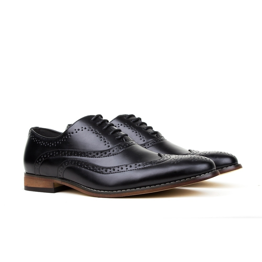 d4492dbb577be5 Shop Gino Vitale Men's Wing Tip Lace-up Dress Shoes - On Sale - Free ...