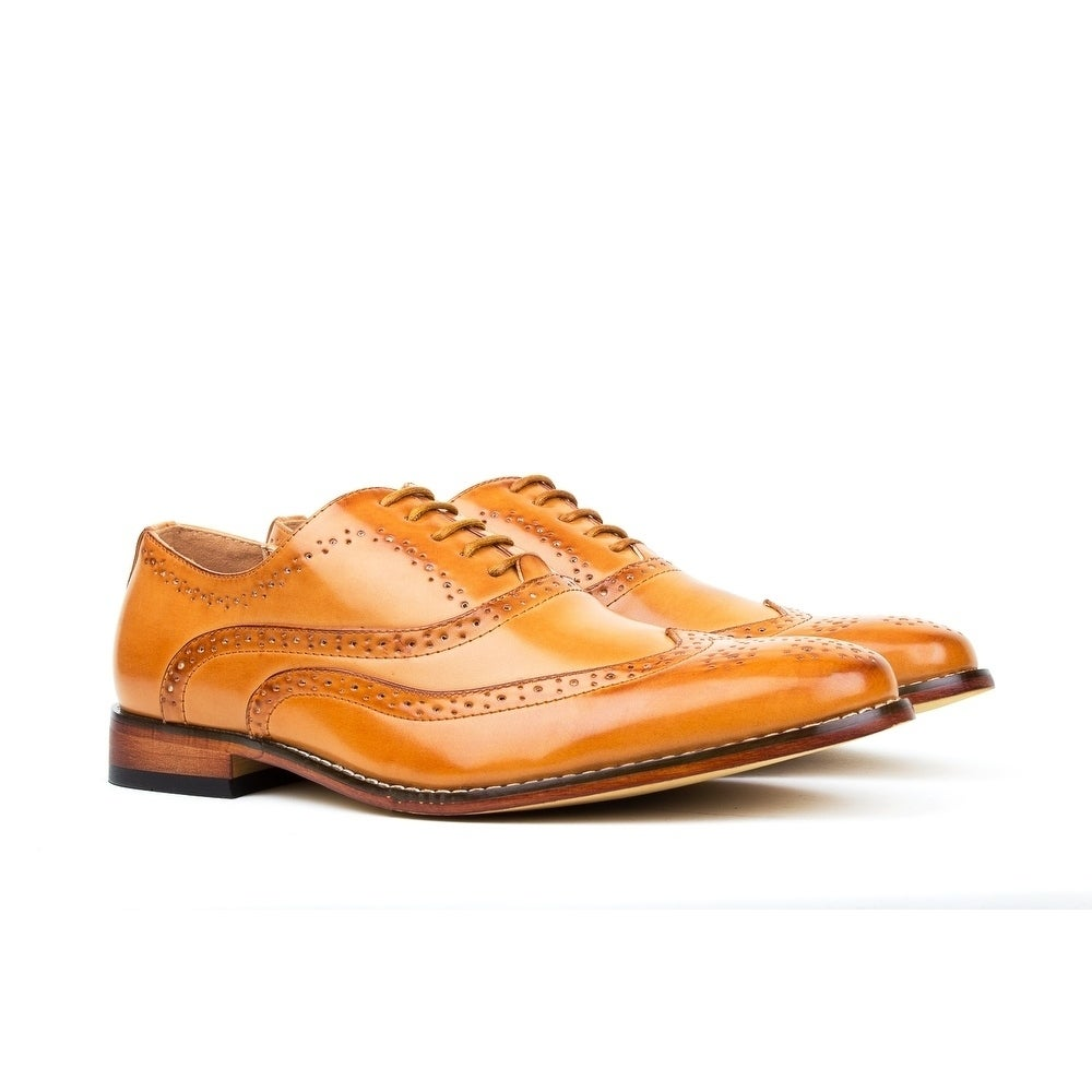 49c285f17 Shop Gino Vitale Men s Wing Tip Lace-up Dress Shoes - On Sale - Free  Shipping On Orders Over  45 - Overstock - 17733079