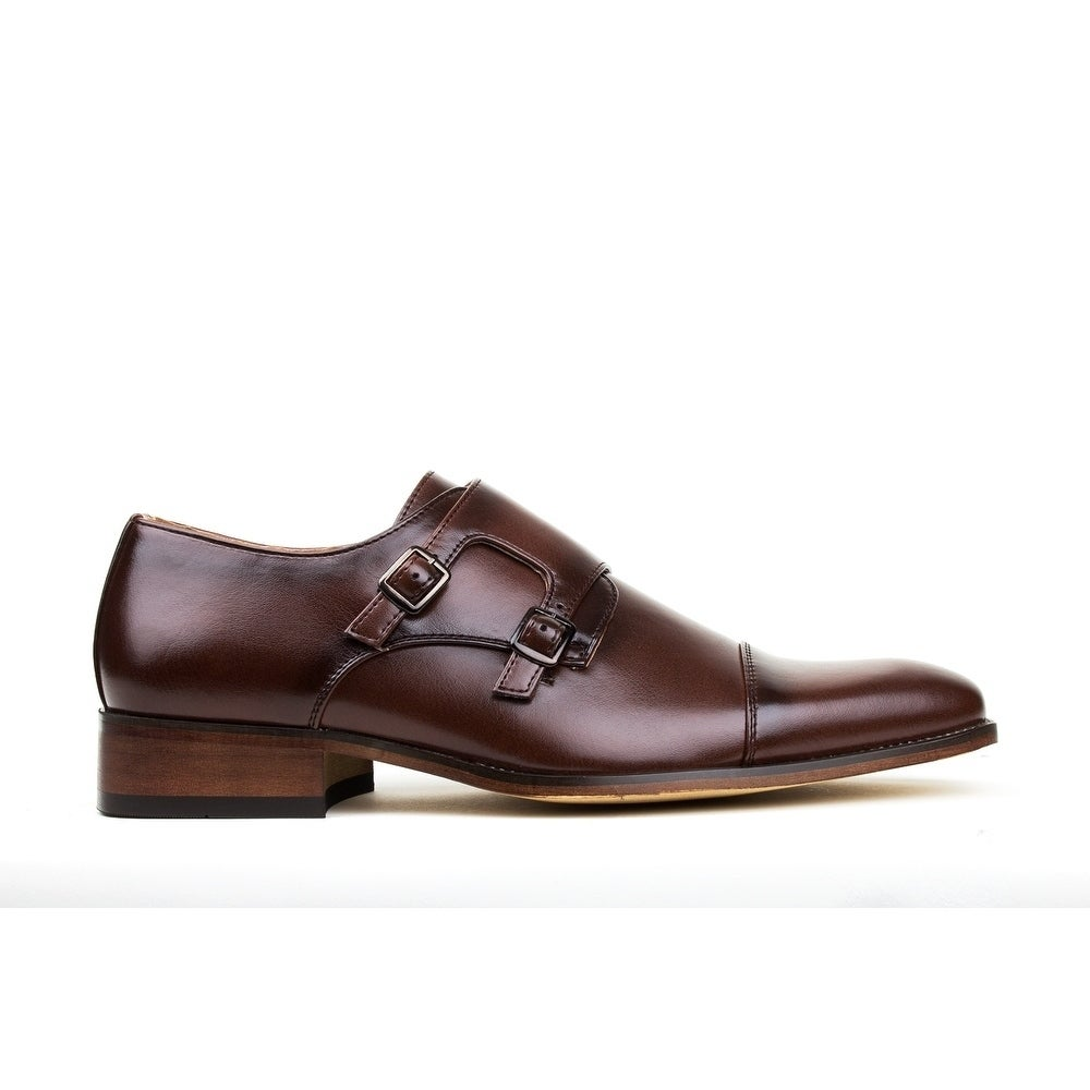 a9584bbfd99 Shop Gino Vitale Men s Monk Strap Dress Shoes - On Sale - Free Shipping On  Orders Over  45 - Overstock - 17733086