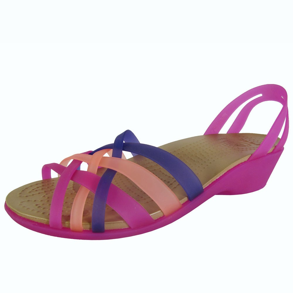 3f736eed64ccb0 Shop Crocs Womens Huarache Mini Wedge Sandals - Free Shipping Today ...