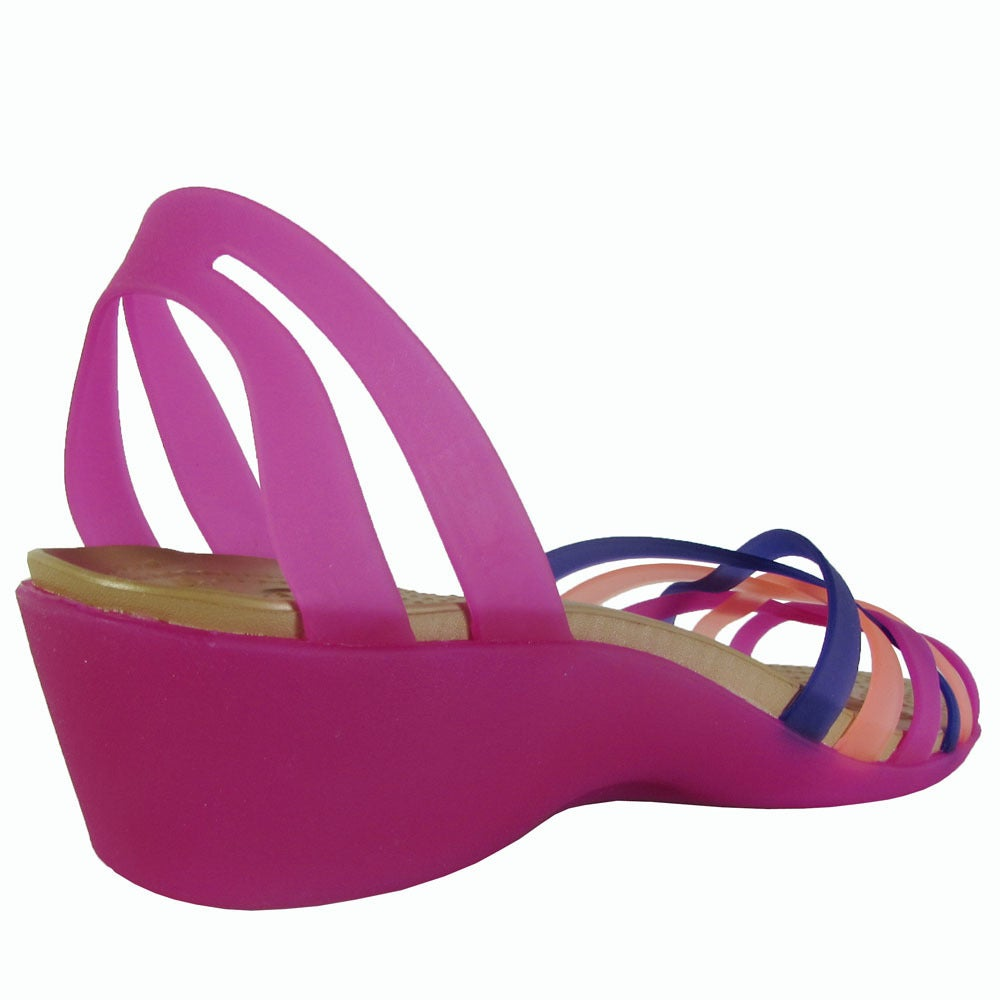 27468a0af47b Shop Crocs Womens Huarache Mini Wedge Sandals - Free Shipping Today -  Overstock - 17740115