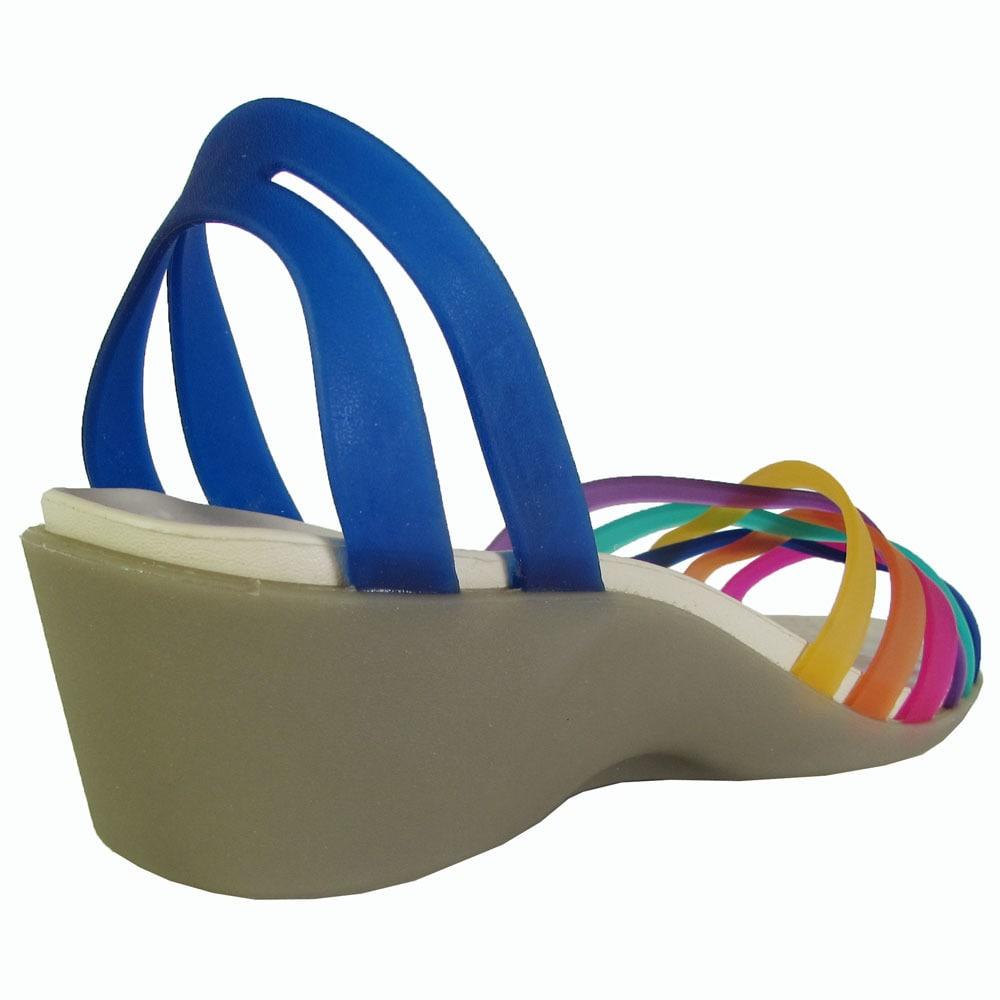 7df6dc5f2efd9 Shop Crocs Womens Huarache Mini Wedge Sandals - Free Shipping Today -  Overstock - 17740115