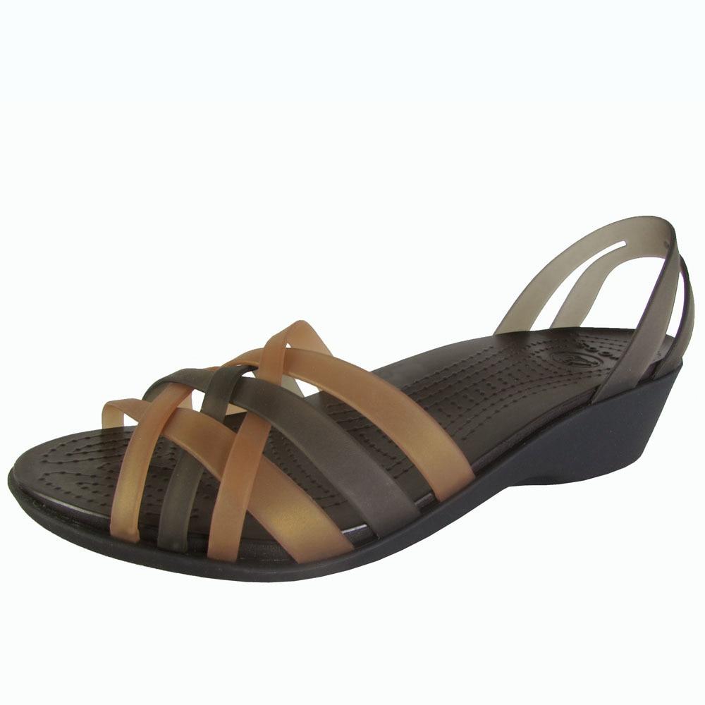 e8121b3dc Shop Crocs Womens Huarache Mini Wedge Sandals - On Sale - Free ...