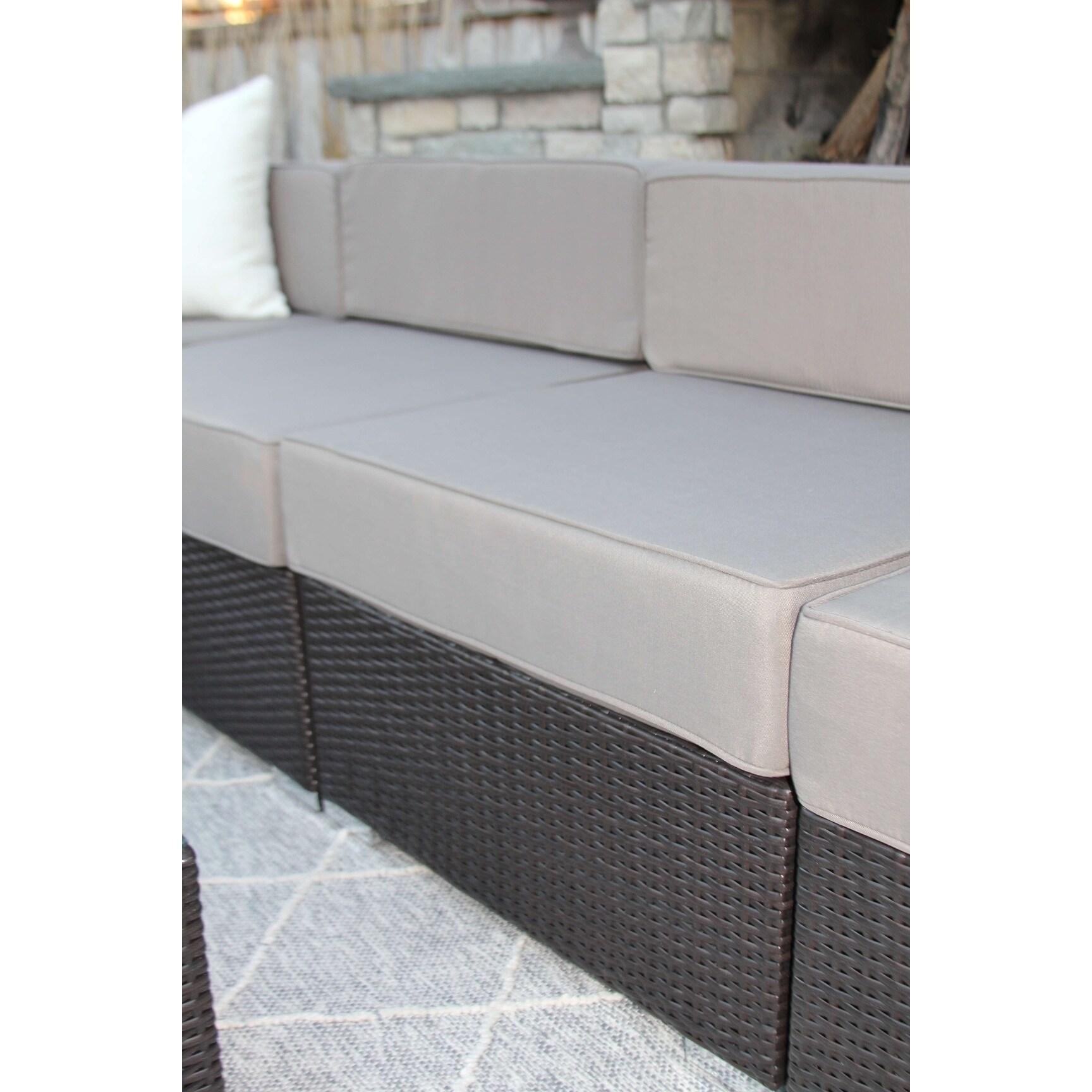 alexandra furniture. Alexandra 7-PC Modern Outdoor Rattan Patio Furniture Sofa Set-Modular - Free Shipping Today Overstock 23942892