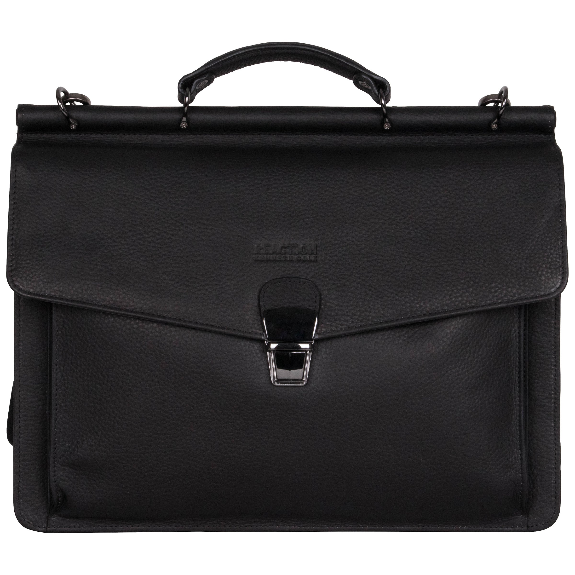 Kenneth Cole Reaction Pebbled Colombian Leather Flapover 15-inch Laptop Bag 97af46d602