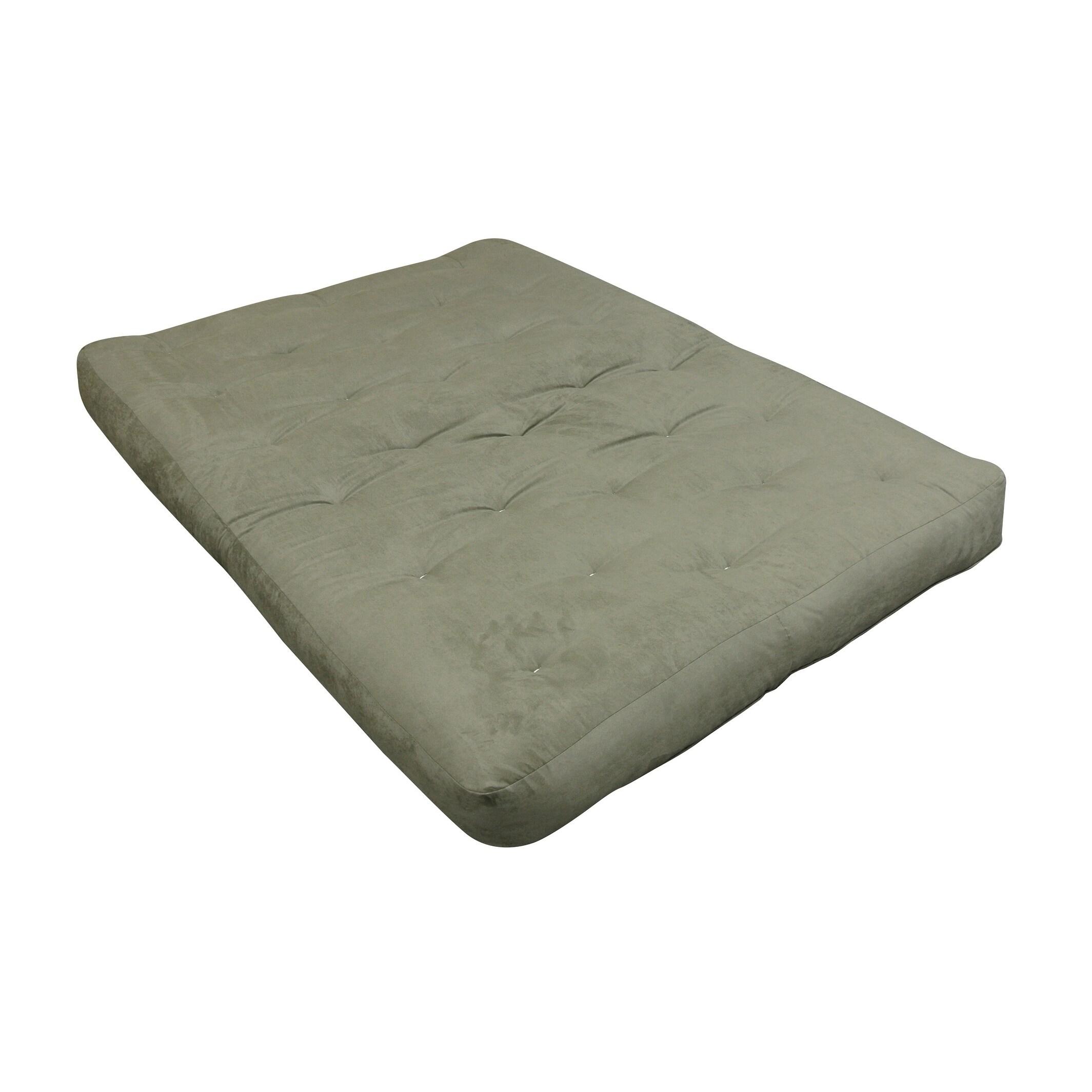 8 Double Foam Cotton Twin Xl 39x80 Sage Microfiber Futon Mattress Free Shipping Today 23944561