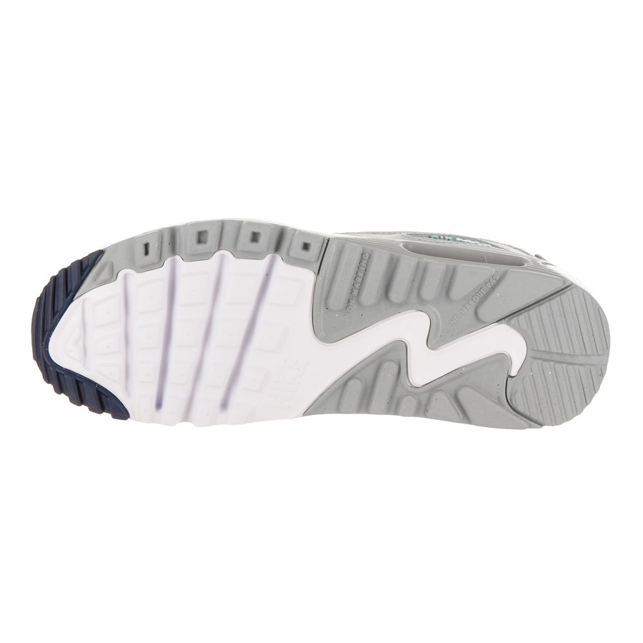 new concept 3fbb5 8970d Shop Nike Kids Air Max 90 Ltr (GS) Running Shoe - Free Shipping Today -  Overstock - 17744440