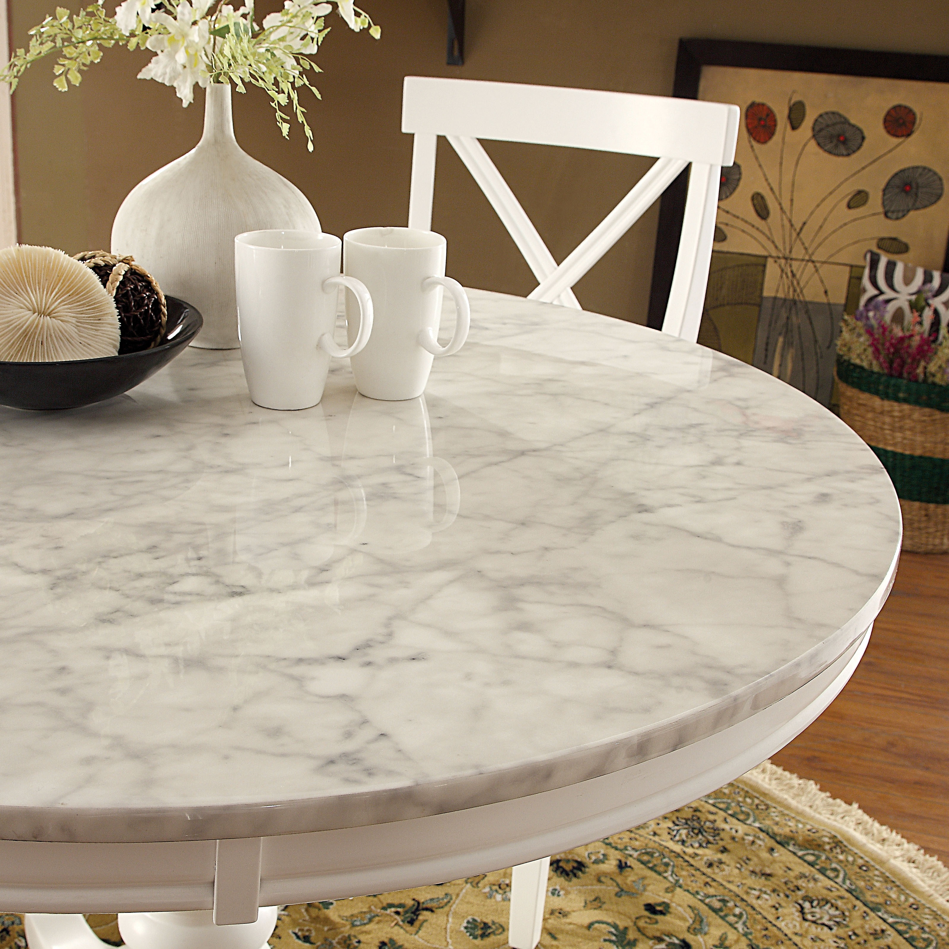 Shop Furniture Of America Laine Country Style Faux Marble White
