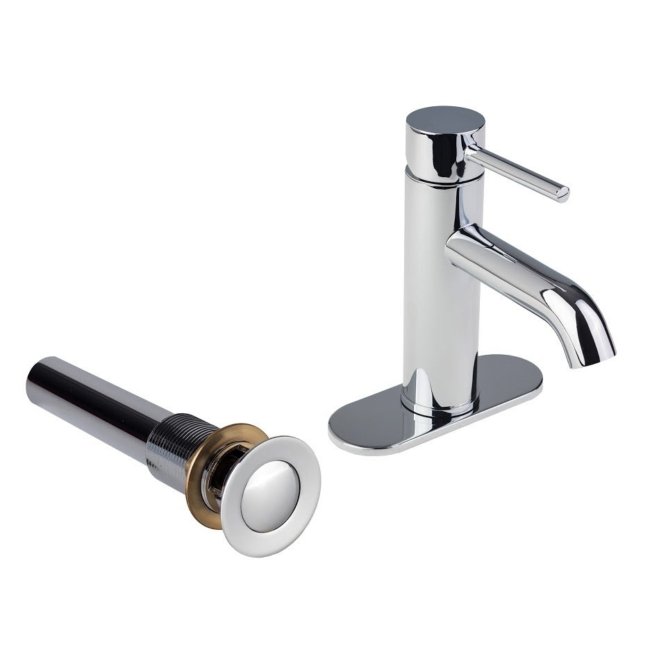 European Single Post Bathroom Faucet with Standard Sink Drain and ...