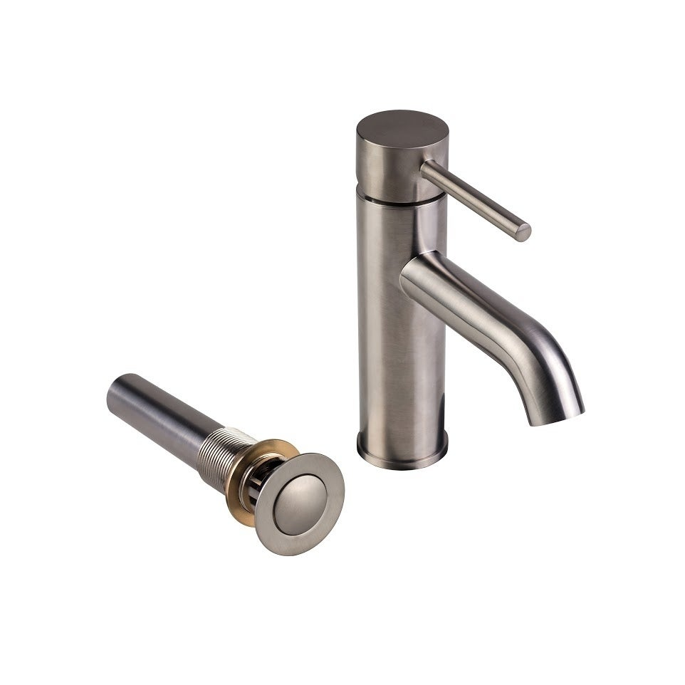 European Single Post Bathroom Faucet with Standard Sink Drain with ...