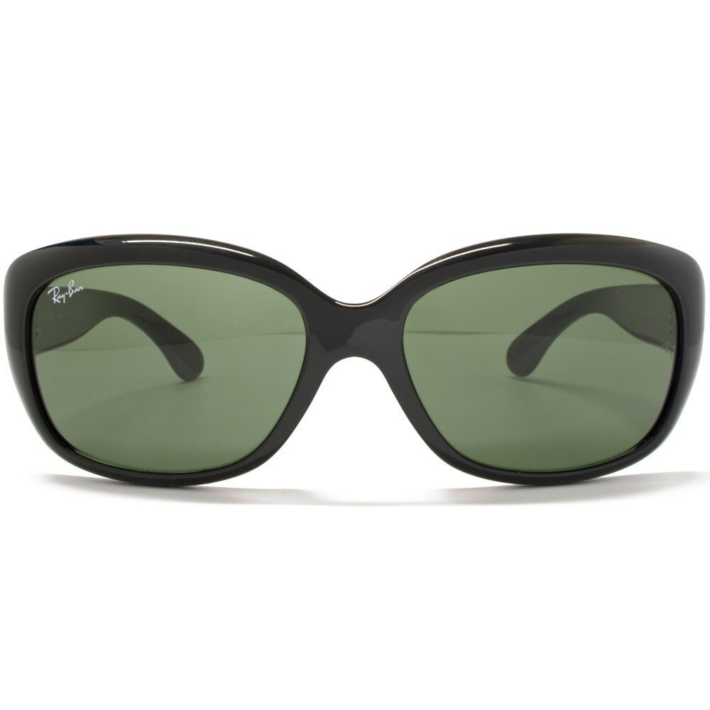 46eacf526b Shop Ray-Ban Women s RB4101 Jackie Ohh Black Frame Polarized Green 58mm  Lens Sunglasses - Free Shipping Today - Overstock - 17754292