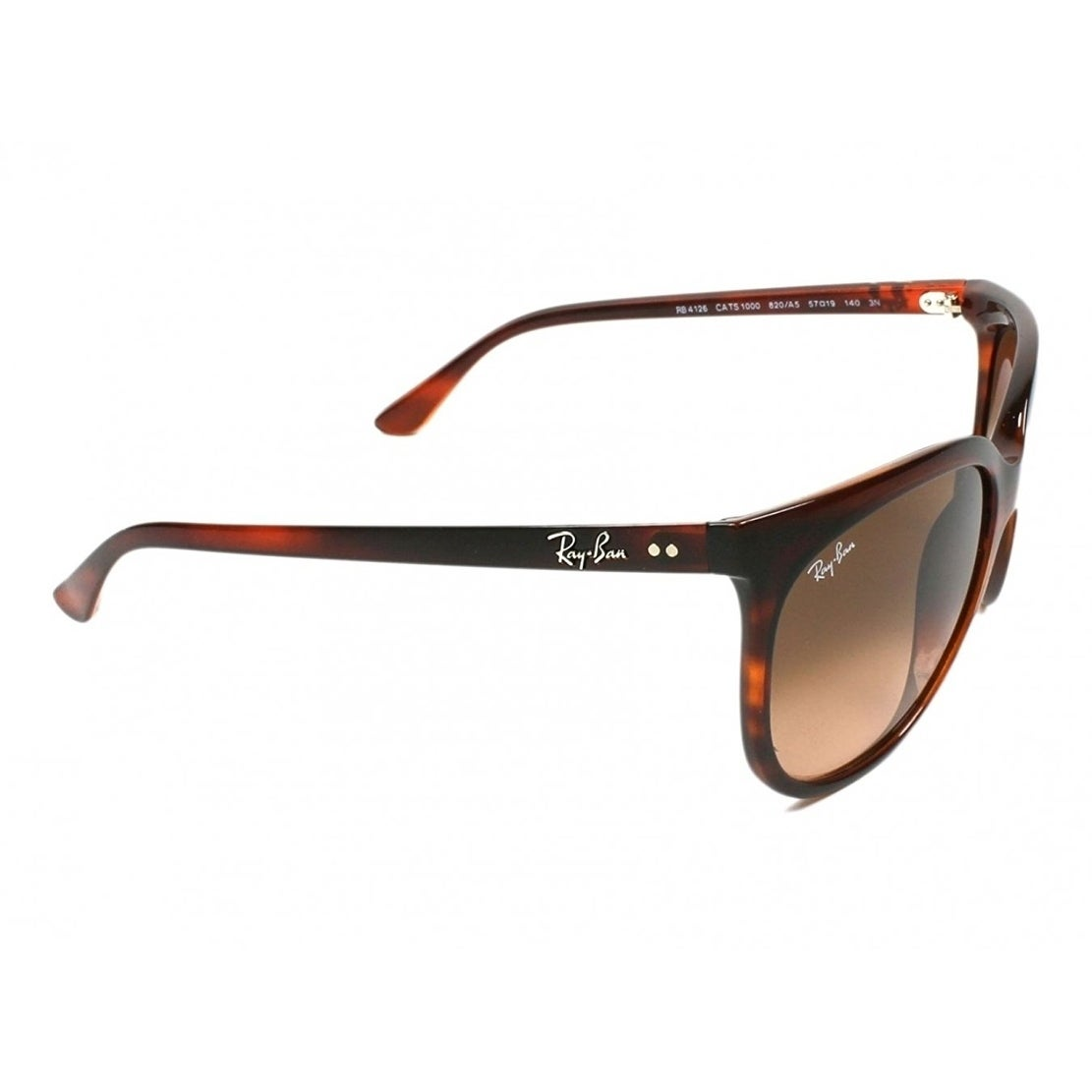 116a1211827 Shop Ray-Ban Women s RB4126 Cats 1000 Tortoise Frame Pink Brown Gradient  57mm Lens Sunglasses - Free Shipping Today - Overstock - 17754307
