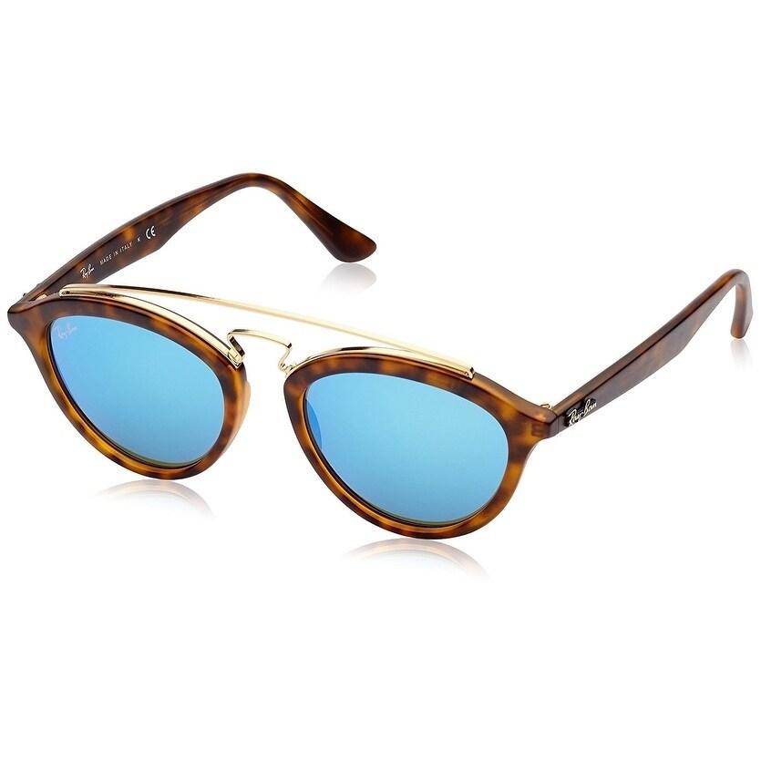 a549cd5a90 Ray-Ban Women s RB4257 Gatsby II Tortoise Frame Blue Mirror 53mm Lens  Sunglasses