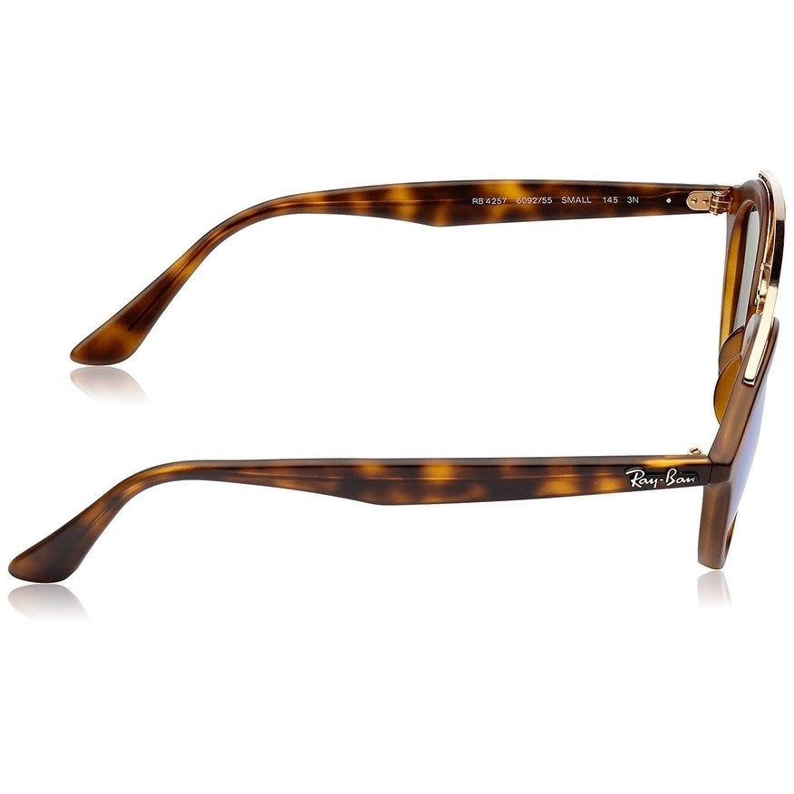 6bc53c864f Shop Ray-Ban Women s RB4257 Gatsby II Tortoise Frame Blue Mirror 53mm Lens  Sunglasses - Free Shipping Today - Overstock - 17754310