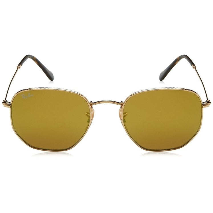 1ad7419bc2 Shop Ray-Ban Hexagonal RB3548N Gold Frame Yellow Flash 51mm Lens Sunglasses  - Free Shipping Today - Overstock - 17754353