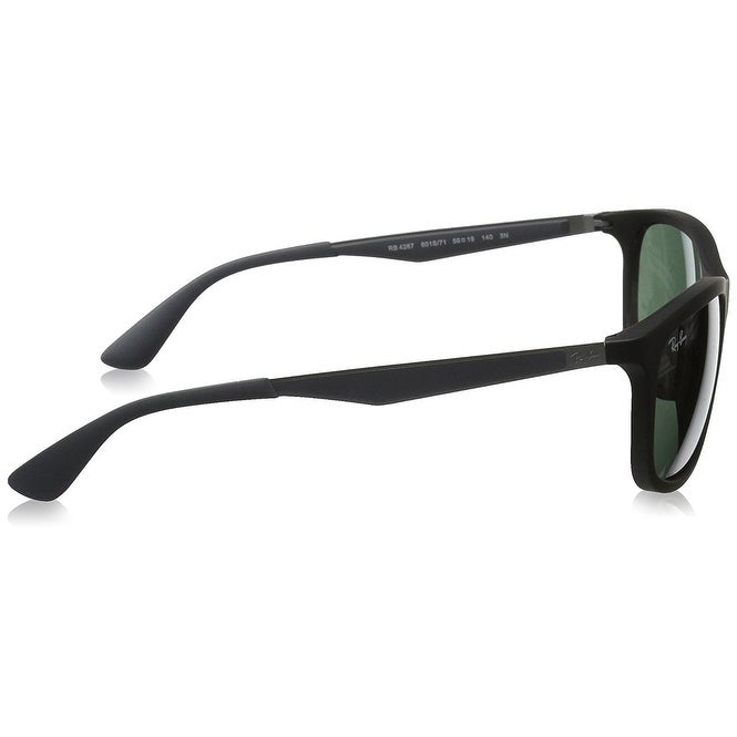 8177636c224 Shop Ray-Ban Men s RB4267 Black Grey Frame Green Classic 59mm Lens  Sunglasses - Free Shipping Today - Overstock.com - 17754363