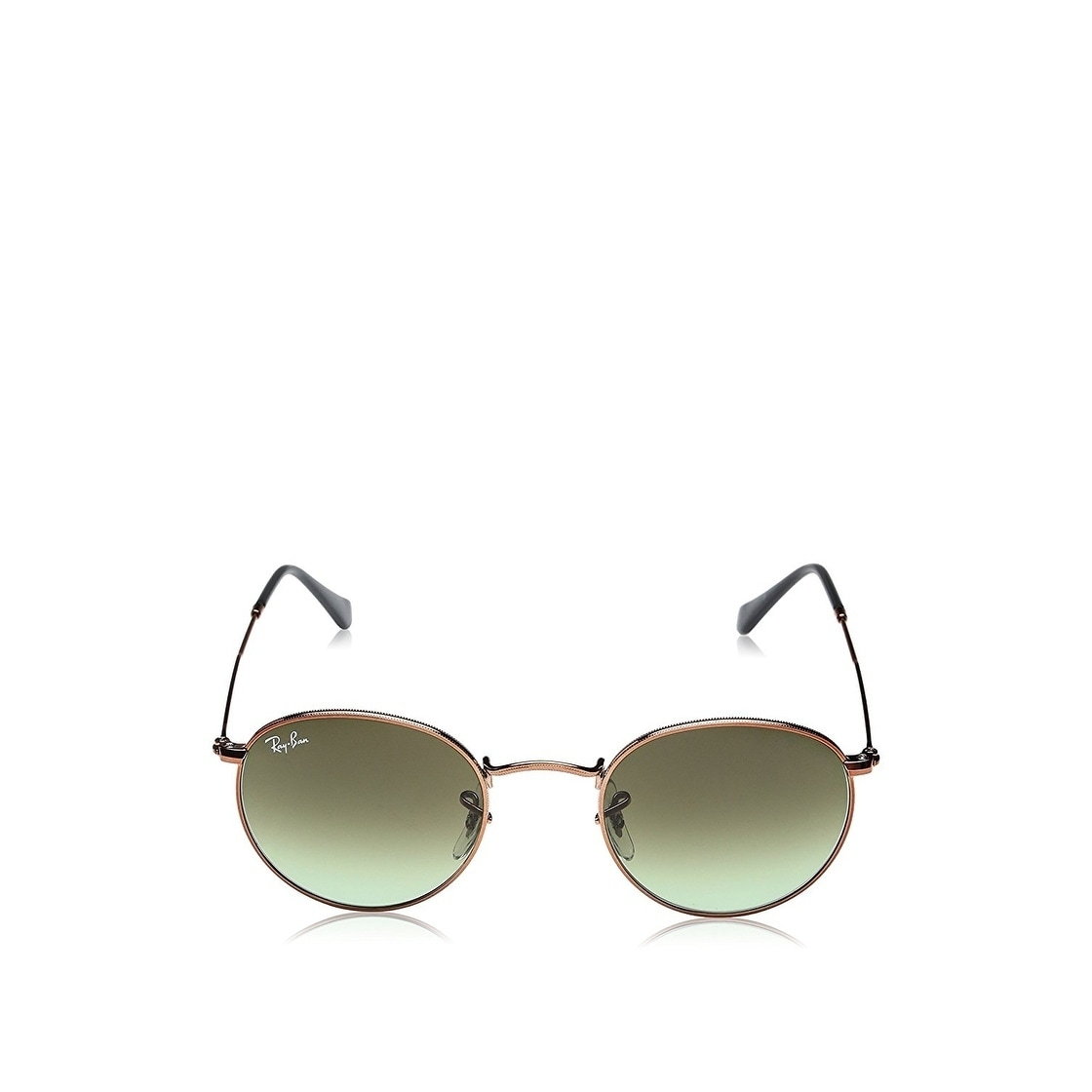 43756f3c5a1918 Shop Ray-Ban Unisex RB3447 Round Metal Bronze-Copper Frame Green Gradient  47mm Lens Sunglasses - Free Shipping Today - Overstock.com - 17754381