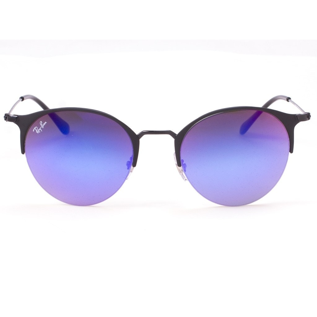 b9db328fe5a Shop Ray-Ban Unisex RB3578 Black Frame Blue Violet Gradient Mirror 50mm Lens  Sunglasses - Ships To Canada - Overstock - 17754385