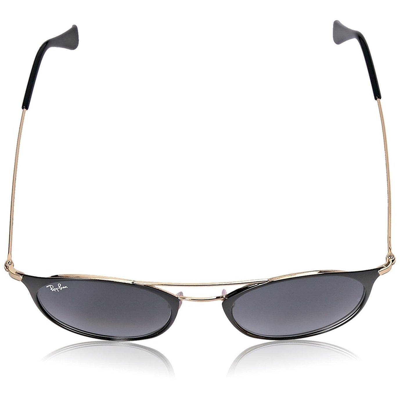 0ea92ffa2c Shop Ray-Ban Unisex RB3546 Black Gold Frame Grey Gradient 49mm Lens  Sunglasses - Free Shipping Today - Overstock - 17754390