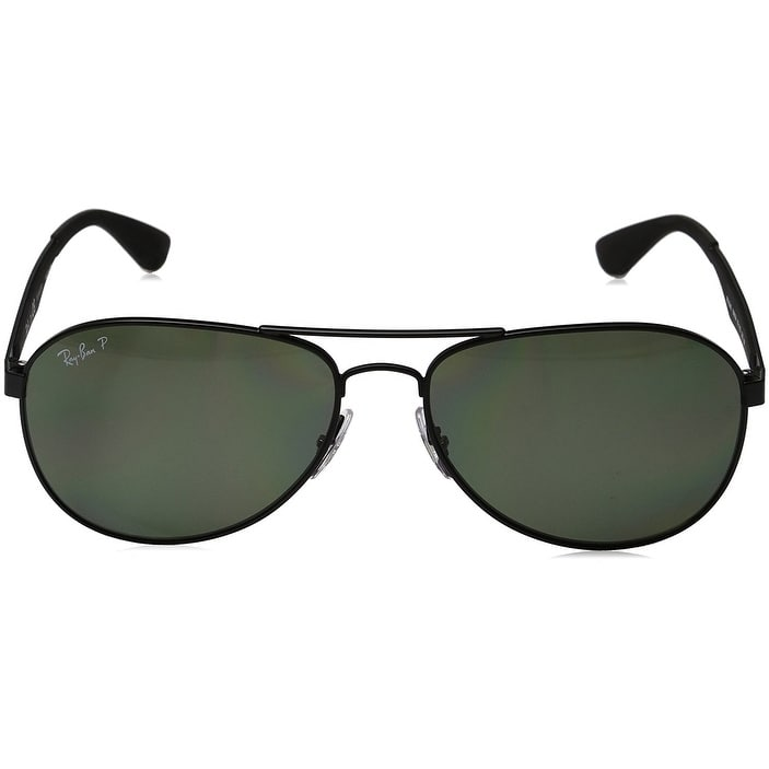 3e9d00787c Shop Ray-Ban Men RB3549 Matte Black Frame Polarized Green 61mm Lens  Sunglasses - Free Shipping Today - Overstock - 17754423
