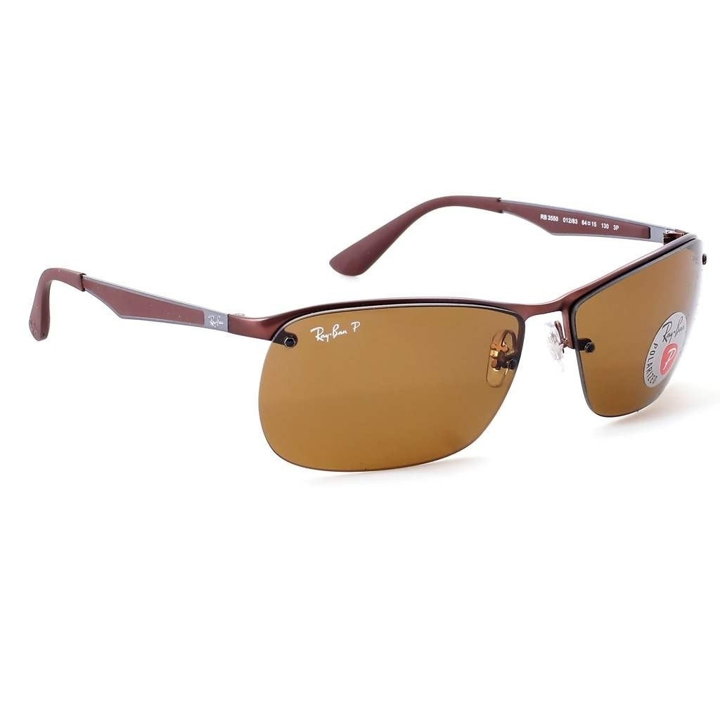 a1cea32d44b63 Shop Ray-Ban Men s RB3550 Brown Frame Polarized Brown 64mm Lens Sunglasses  - Free Shipping Today - Overstock - 17754429