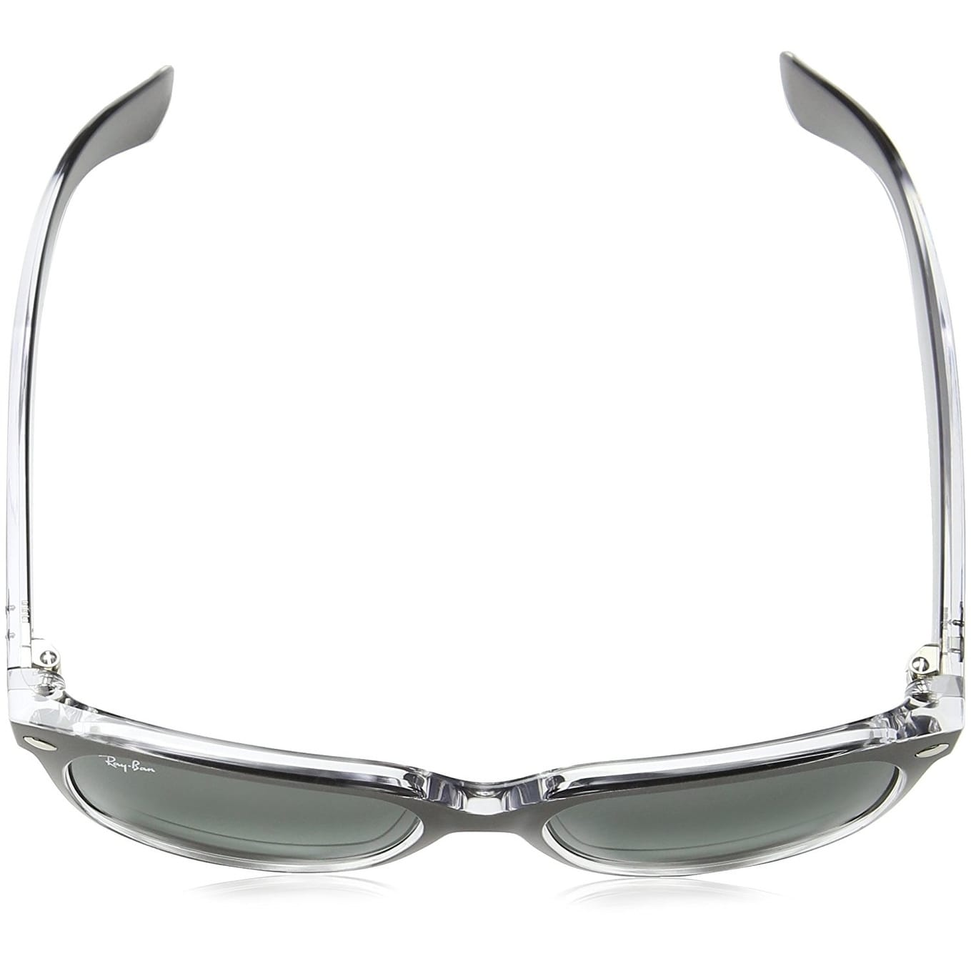 21d2d6f9ae Shop Ray-Ban Unisex RB2132 New Wayfarer Color Mix Gunmetal Clear Frame Grey  Gradient 55mm Lens Sunglasses - Free Shipping Today - Overstock - 17754455