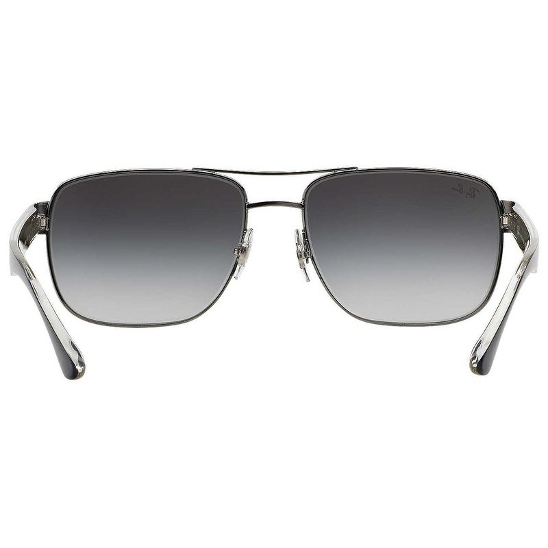 c427f3e54b Shop Ray-Ban Men s RB3530 Gunmetal Blue Frame Grey Gradient 58mm Lens  Sunglasses - Free Shipping Today - Overstock - 17754464
