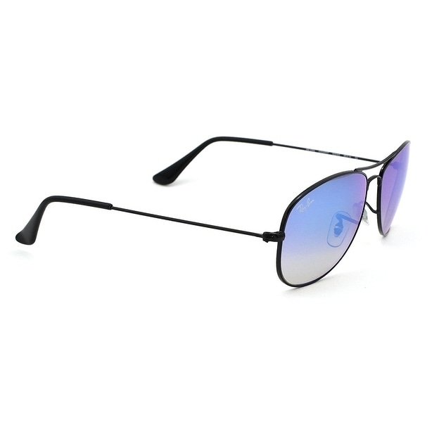 8c2b94e4d9 Shop Ray-Ban Unisex RB3362 Cockpit Black Frame Blue Gradient Flash 56mm  Lens Sunglasses - Free Shipping Today - Overstock - 17754481
