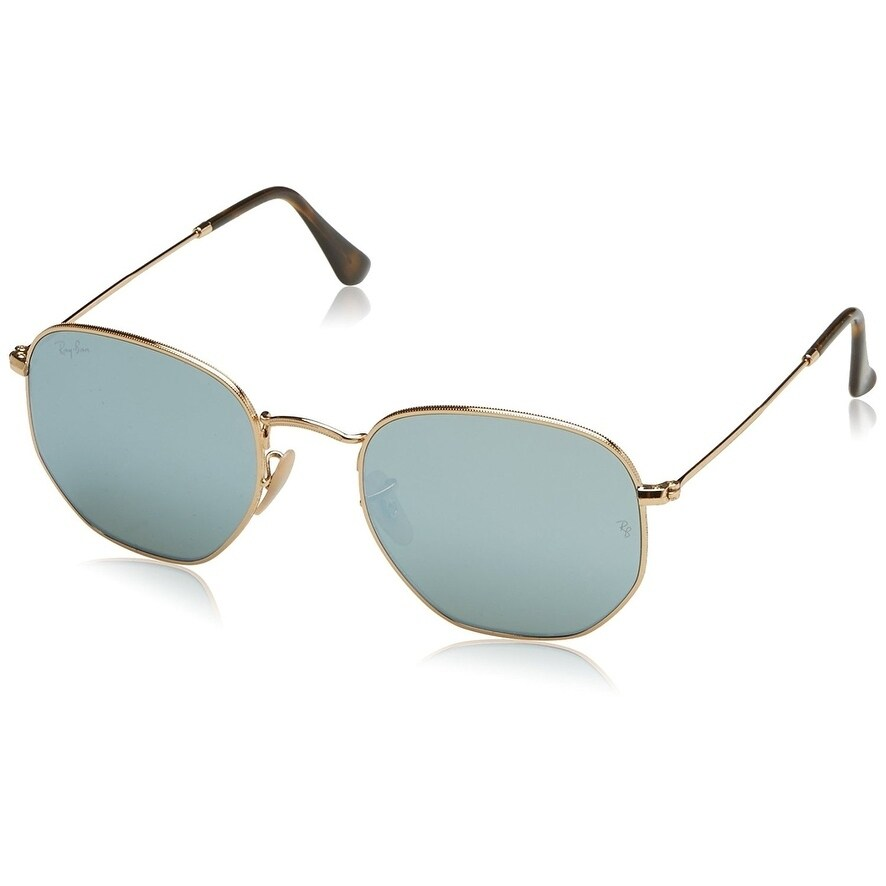 cad620d990f98a Ray-Ban Unisex RB3548N Hexagonal Gold Frame Silver Flash 54mm Lens  Sunglasses