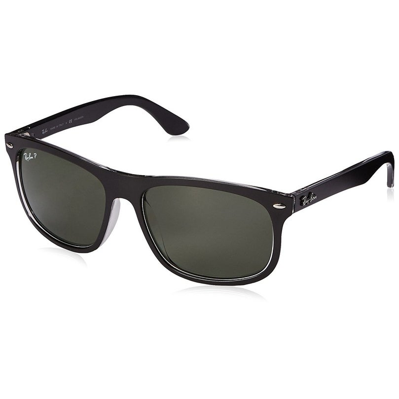 852e97ba72 Shop Ray-Ban Men s RB4226 Black Frame Polarized Green 59mm Lens Sunglasses  - Free Shipping Today - Overstock - 17754494