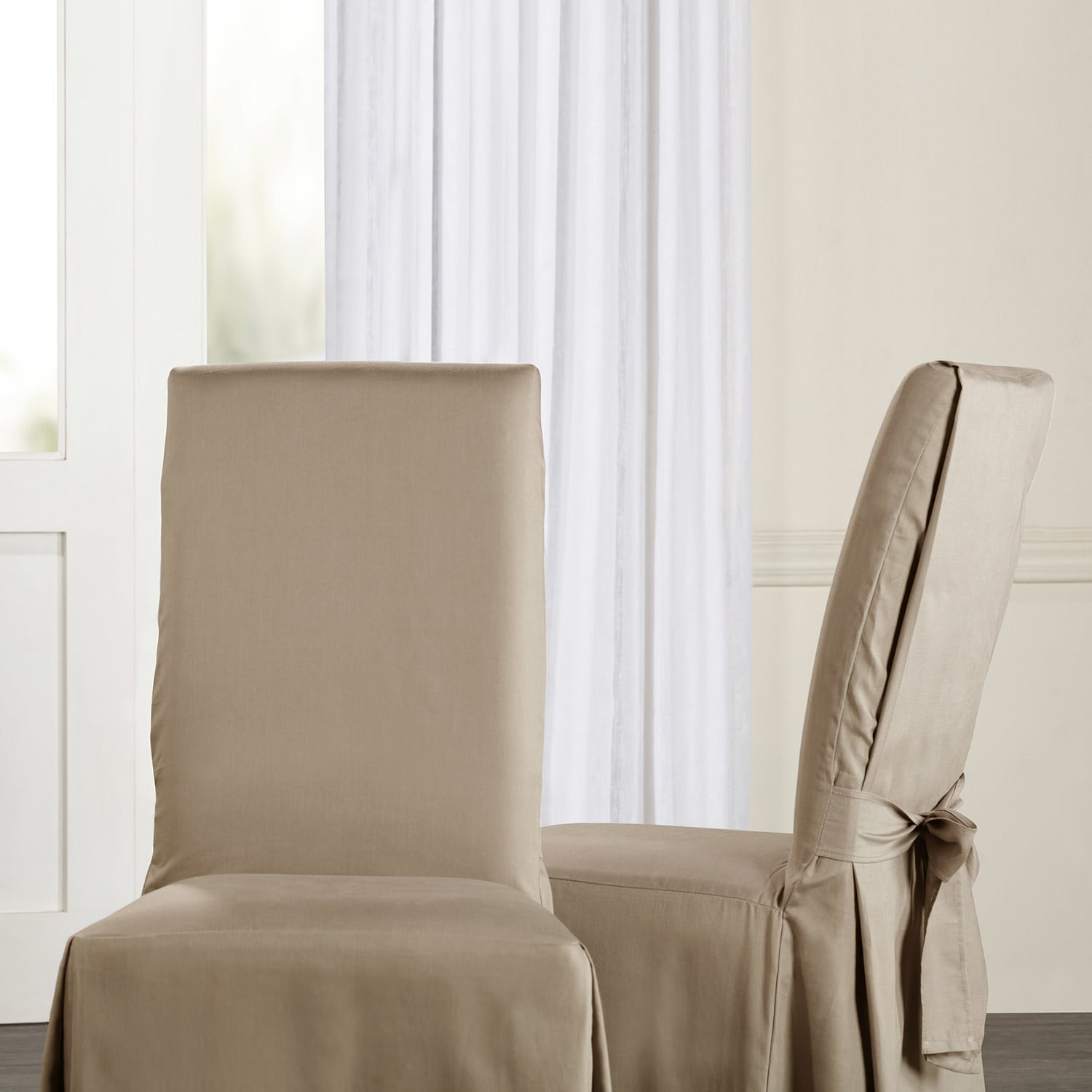 Shop Exclusive Fabrics Solid Cotton Chair Covers (Sold As Pair) - On ...