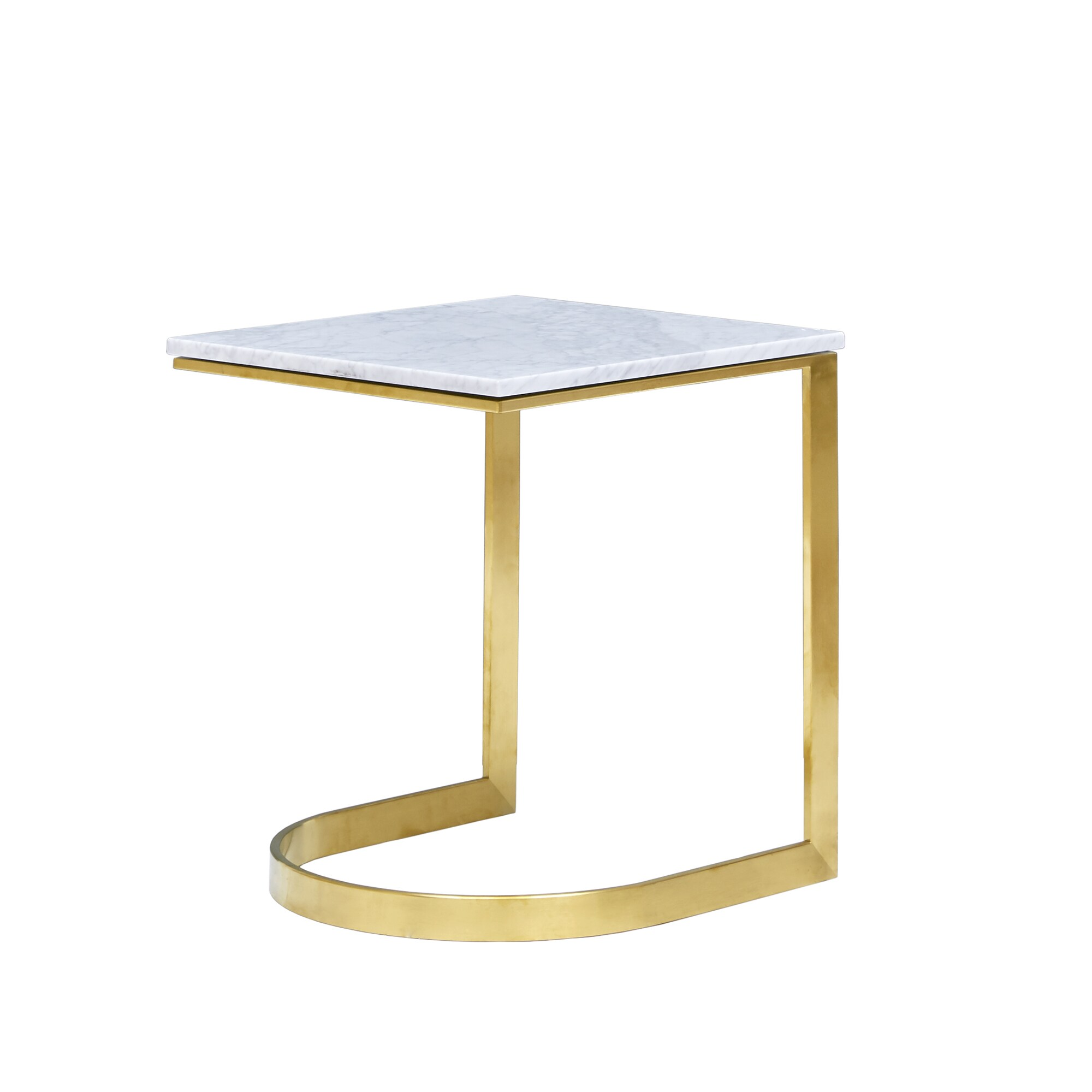 Madison Park Antonio Marble Gold End Table Free Shipping Today