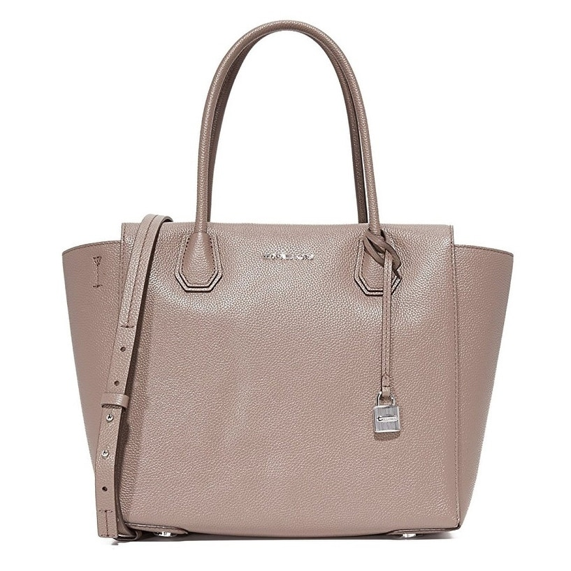 69de98b45854b0 Shop Michael Kors Mercer Large Leather Satchel - Pearl Grey -  30H6SM9S3L-513 - Free Shipping Today - Overstock - 17760513