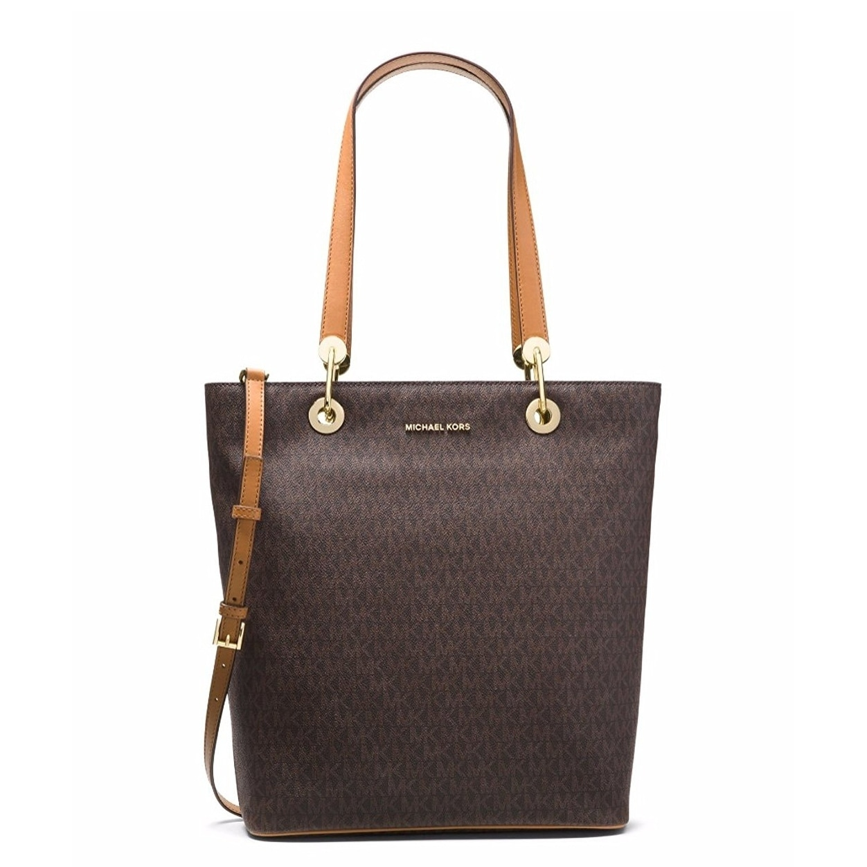 b034fcc55b40 Shop Michael Kors Raven Large North South Tote - Brown - 30S7GRXT3V-200 -  Free Shipping Today - Overstock - 17760526