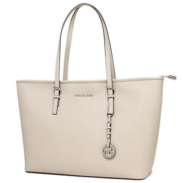 5aae0b8c9364 Shop Michael Kors Jet Set Travel Medium Saffiano Leather Top-Zip Tote -  Cement - 30T5STVT2L-092 - Free Shipping Today - Overstock - 17760628