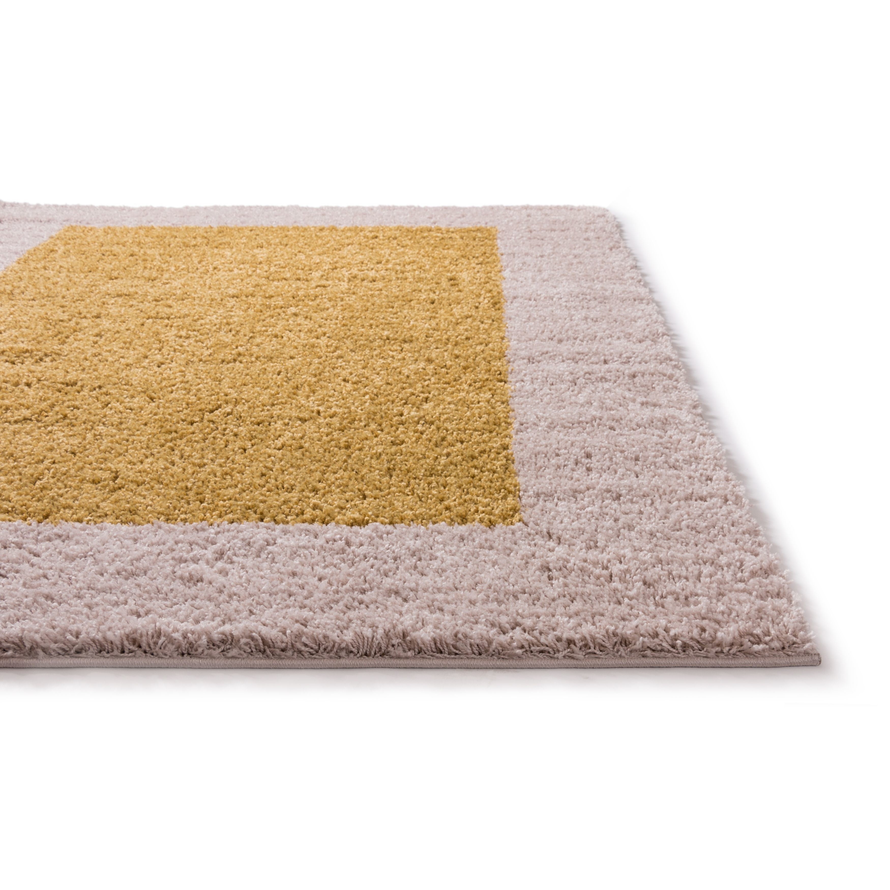 Shop Well Woven Modern Solid Color Border Mat Accent Rug - 2\' x 3 ...
