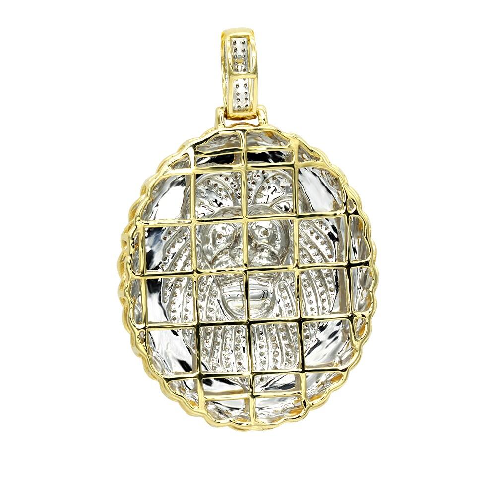 Luxurman medallion 14k gold real diamond lions head pendant 1ct luxurman medallion 14k gold real diamond lions head pendant 1ct free shipping today overstock 23960725 aloadofball Choice Image
