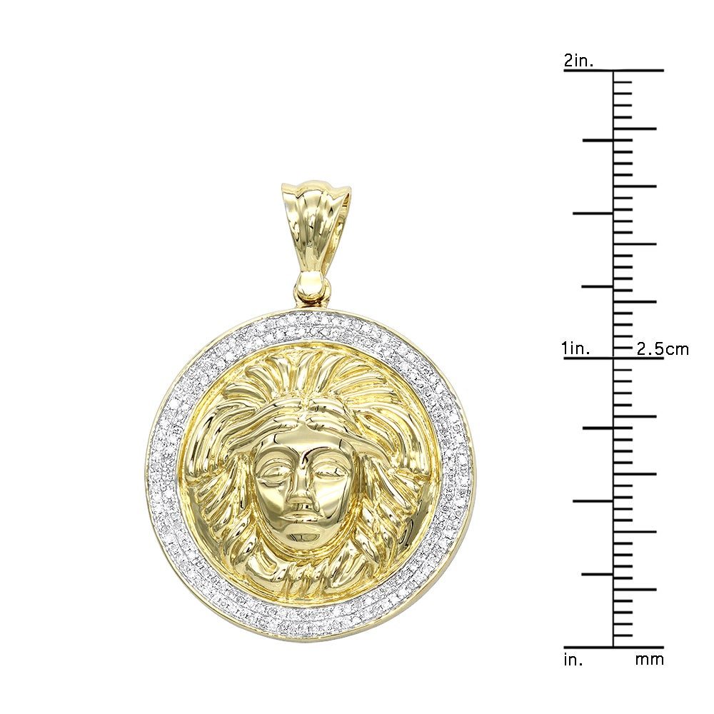 pendant lyst necklace metallic men octagon versace medusa silver gold gallery in jewelry and for