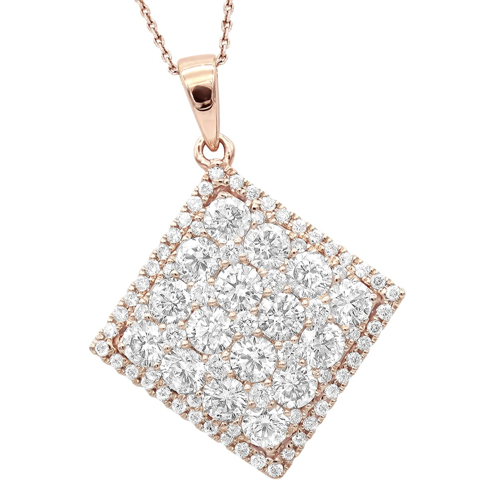 soli diamond products sol oro carat solitaire white necklace gold vrai jewelry