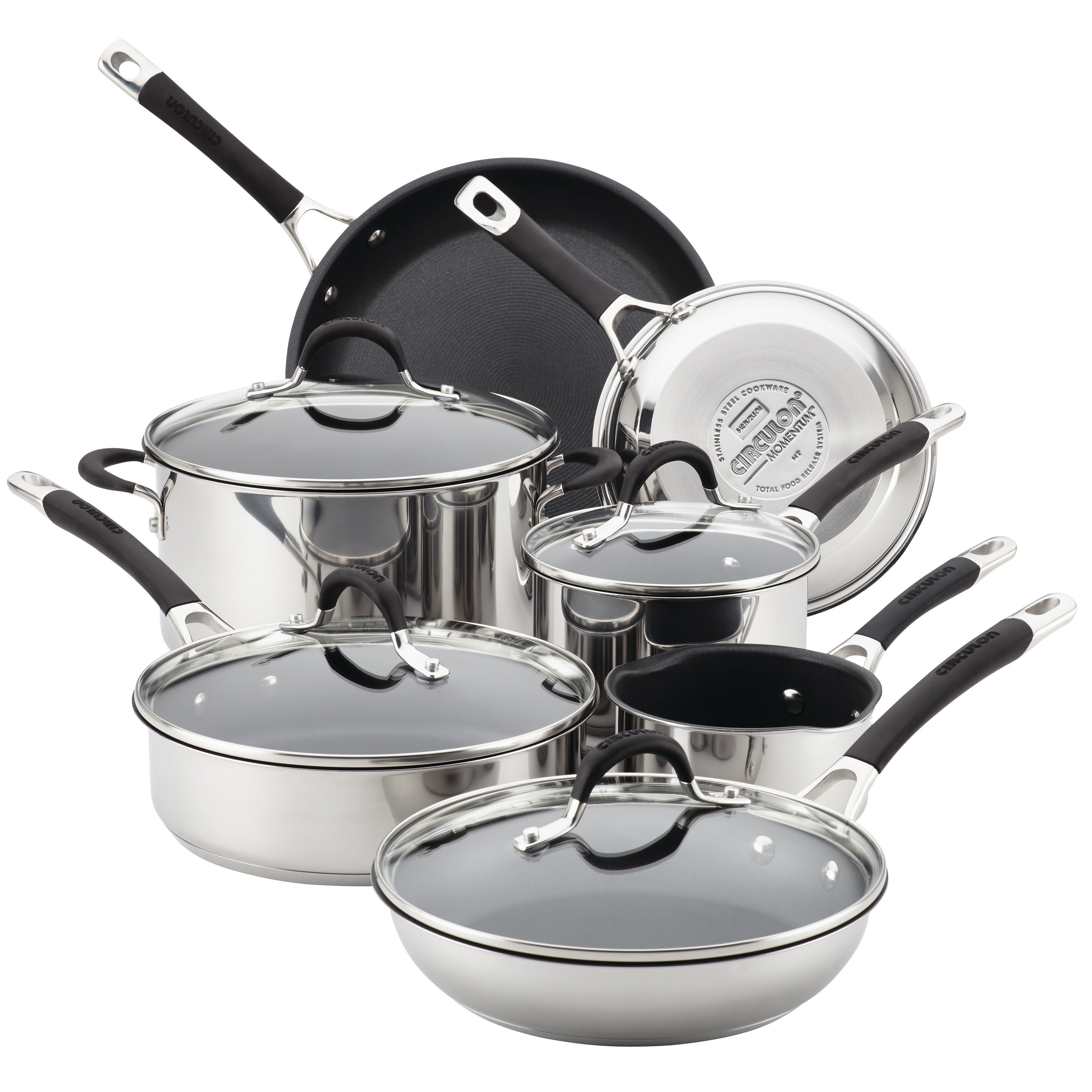 Shop Circulon Momentum Stainless Steel Nonstick 11 Piece Cookware
