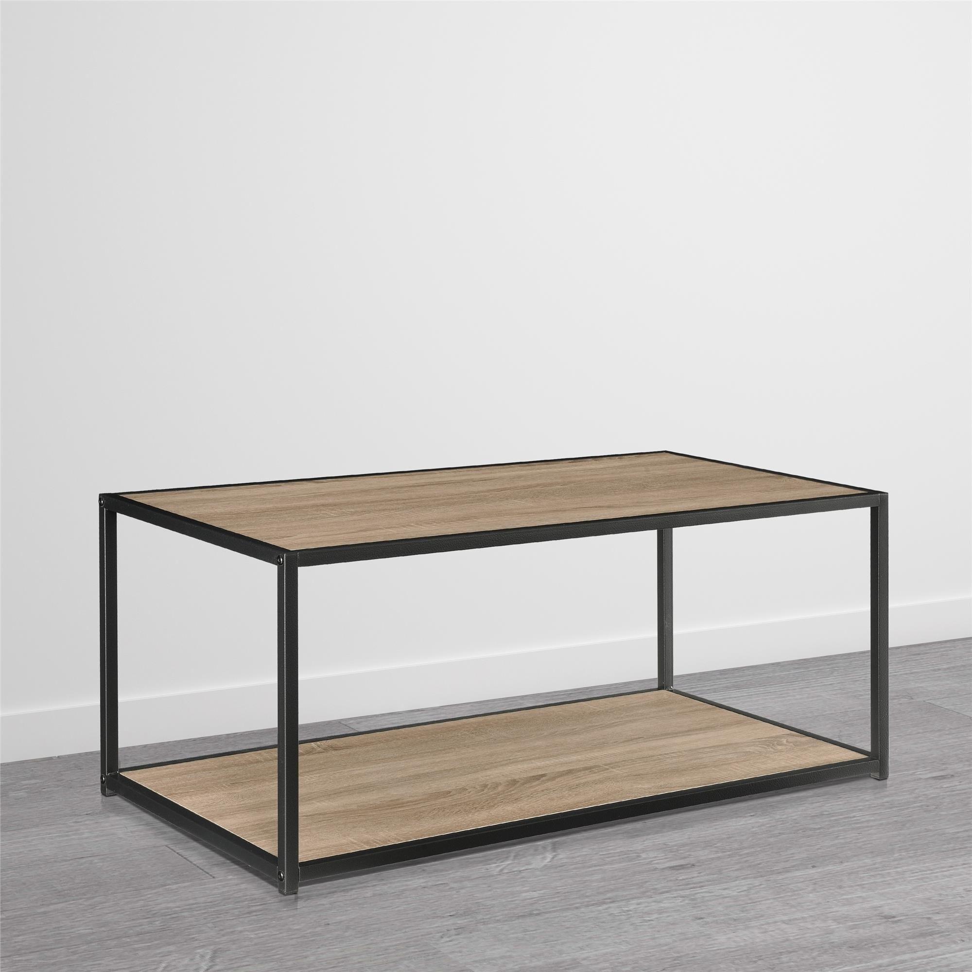 Porch & Den Wicker Park Haddon Metal Frame Coffee Table Free