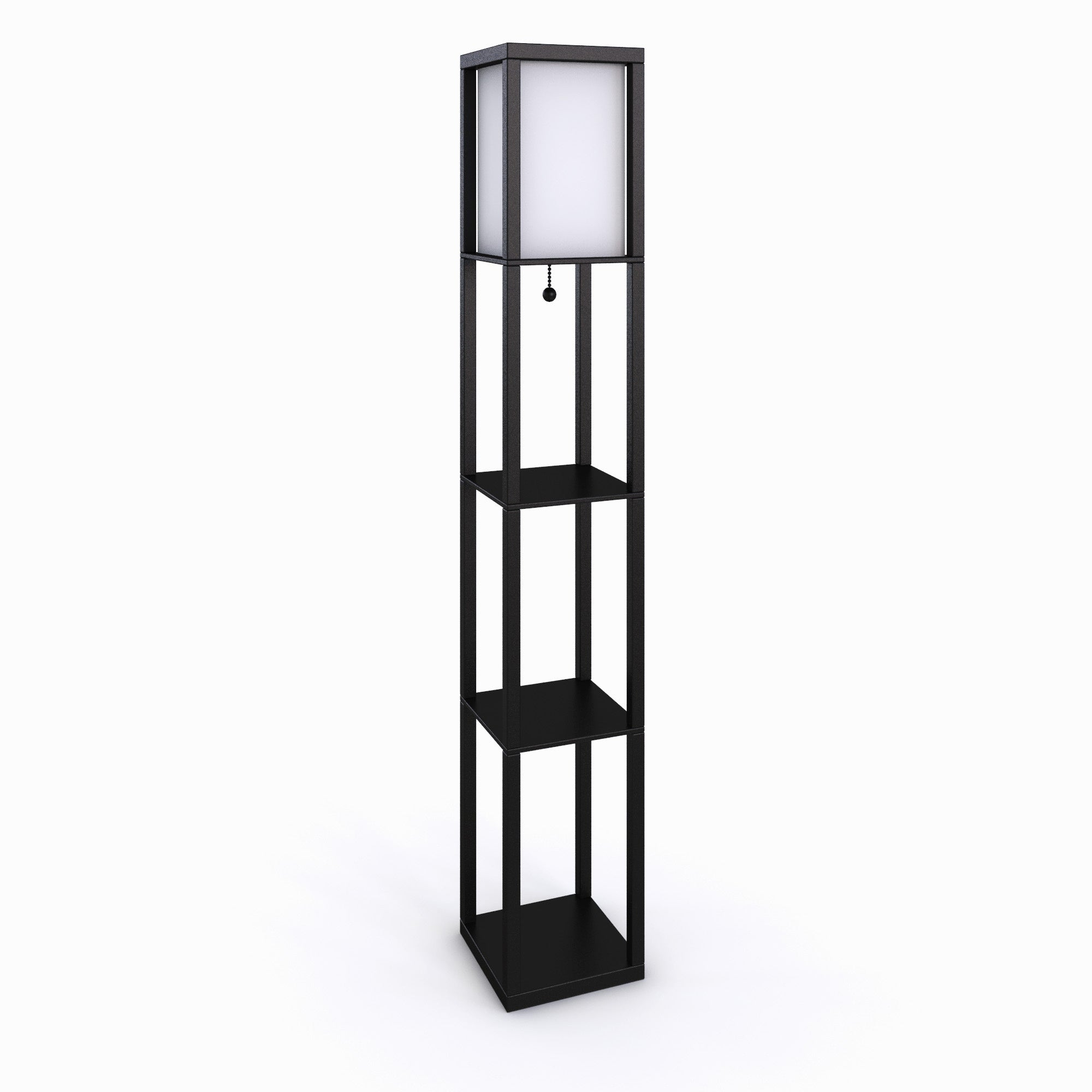 in shelf stewart adesso lamp floor p lamps black with
