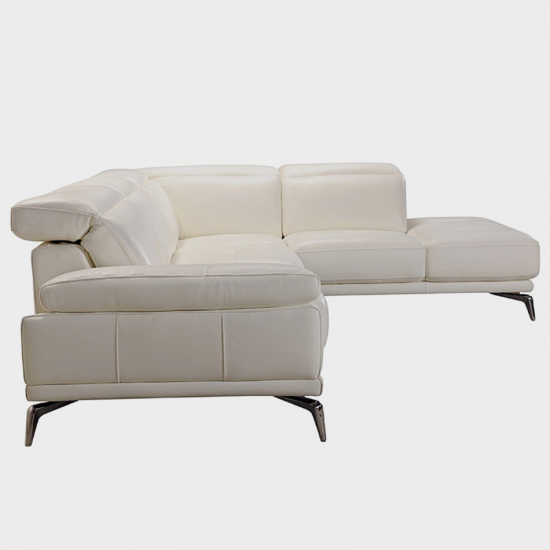Rallye Modern White Leather L Shaped Sofa Free Shipping Today 17765130