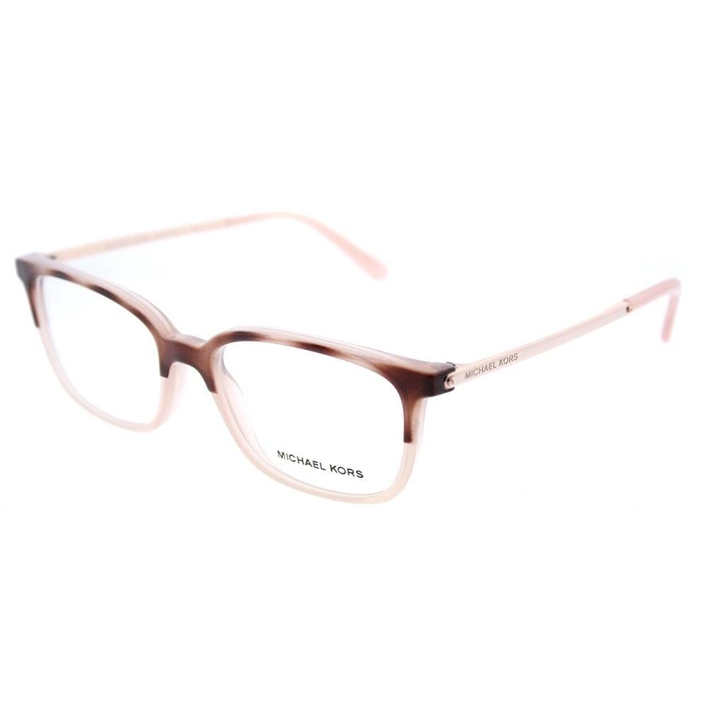 Shop Michael Kors Rectangle MK 4047 3277 Womens Pink Tort Milky Pink ...