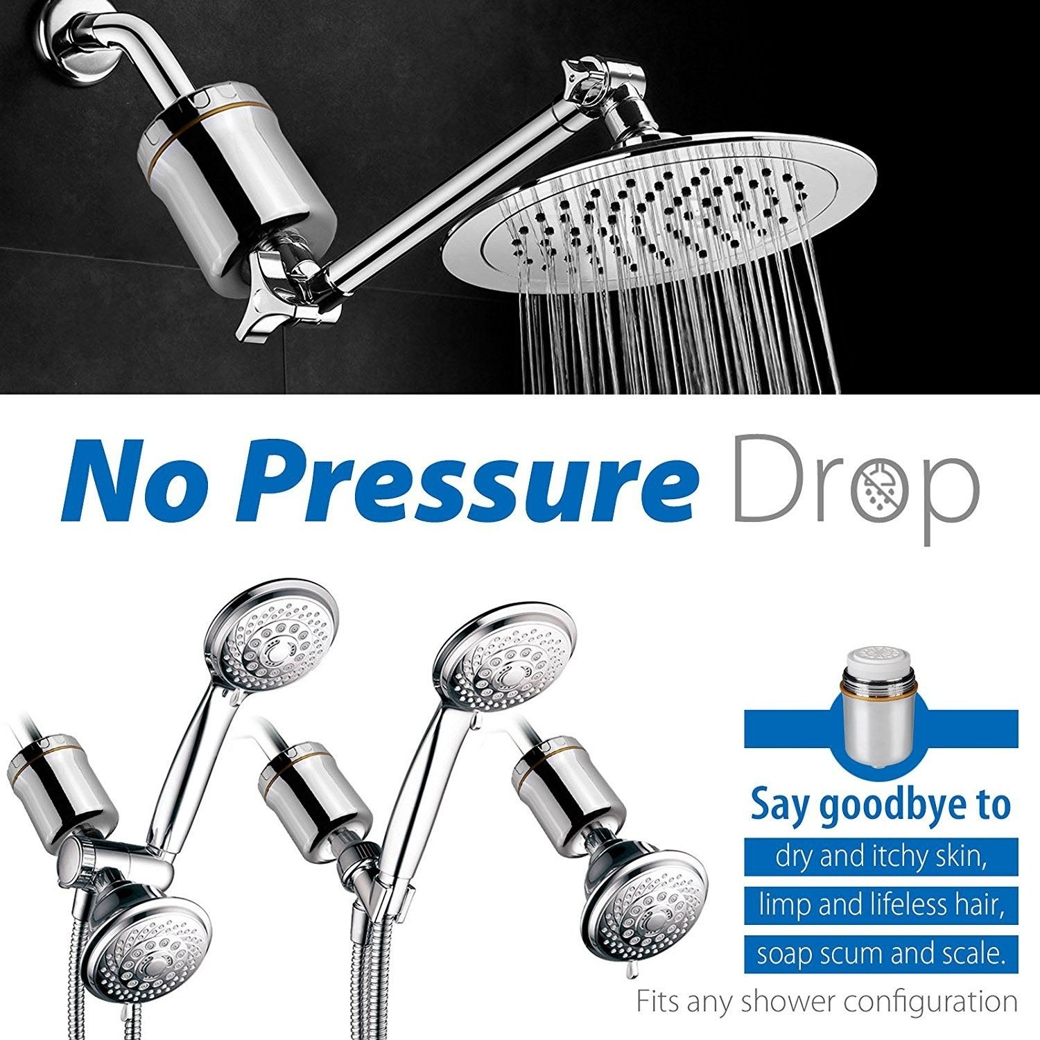 Shop iSpring Multi-Stage Universal Shower Filter W/ Replaceable ...