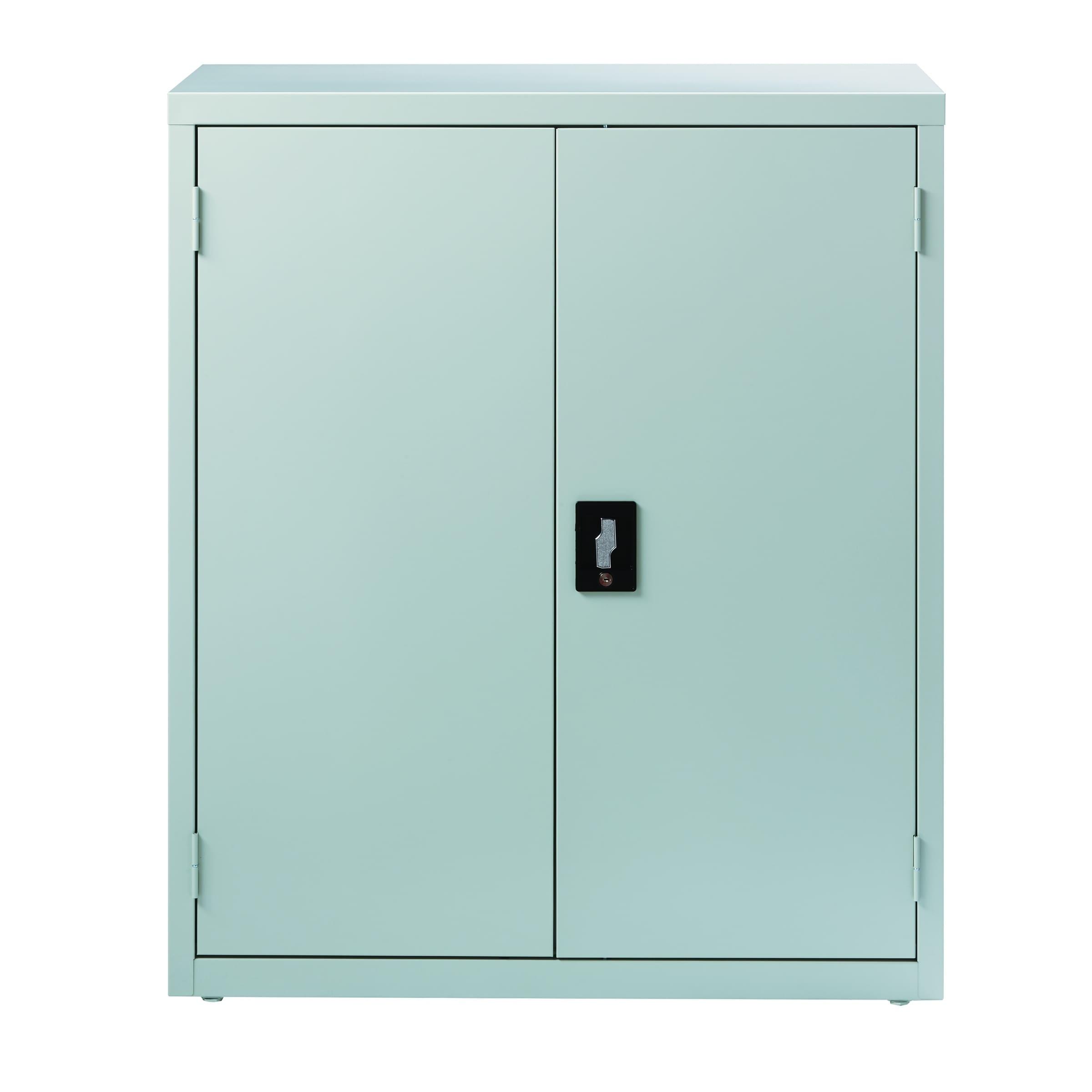 Hirsh 3 Shelf Storage Cabinet 18 Inch Deep Light Gray Free Shipping Today 23967489